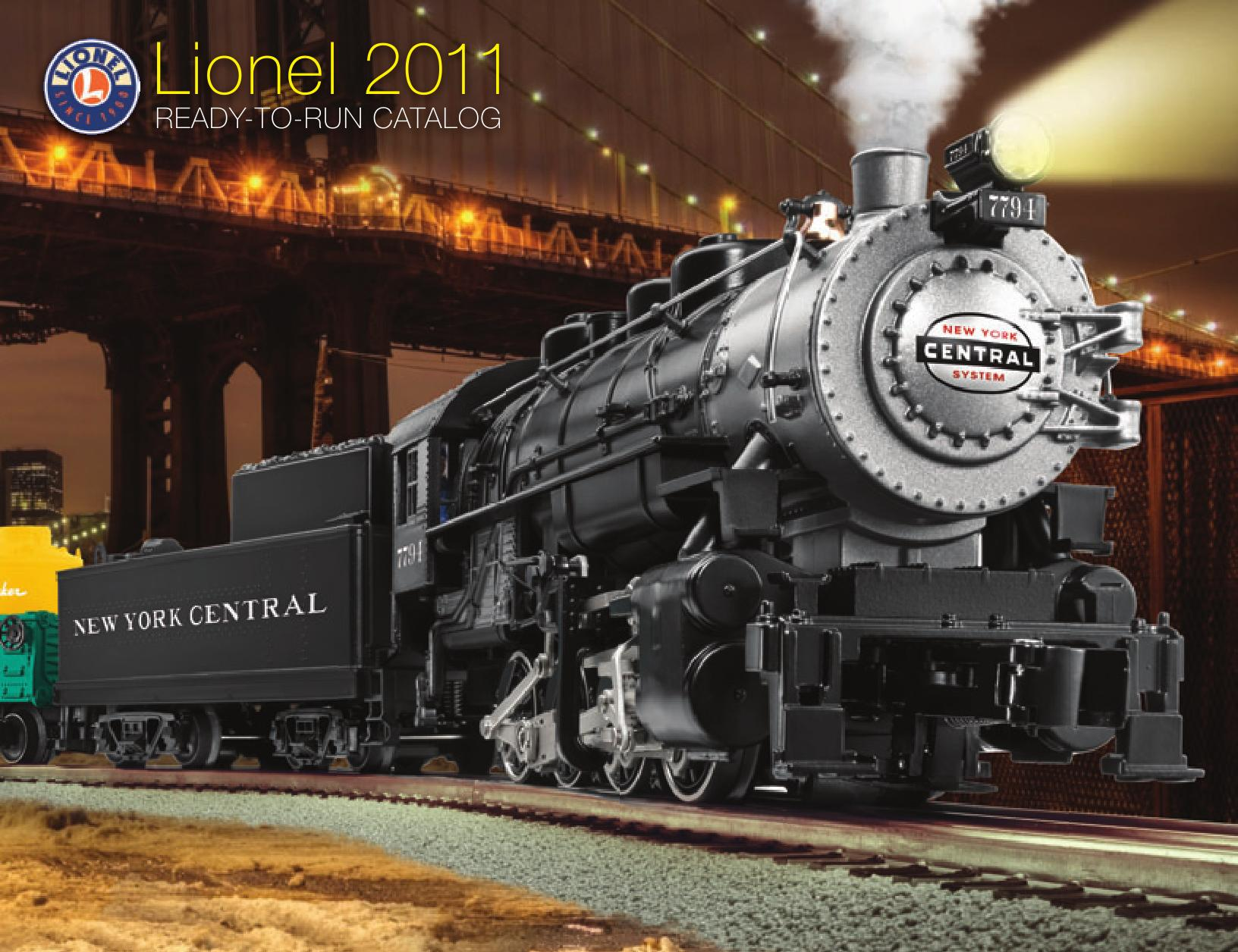 Lionel Catalogs - Ready To Run 2011