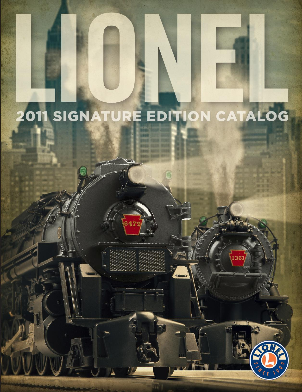 Lionel Catalogs - Signature Edition 2011