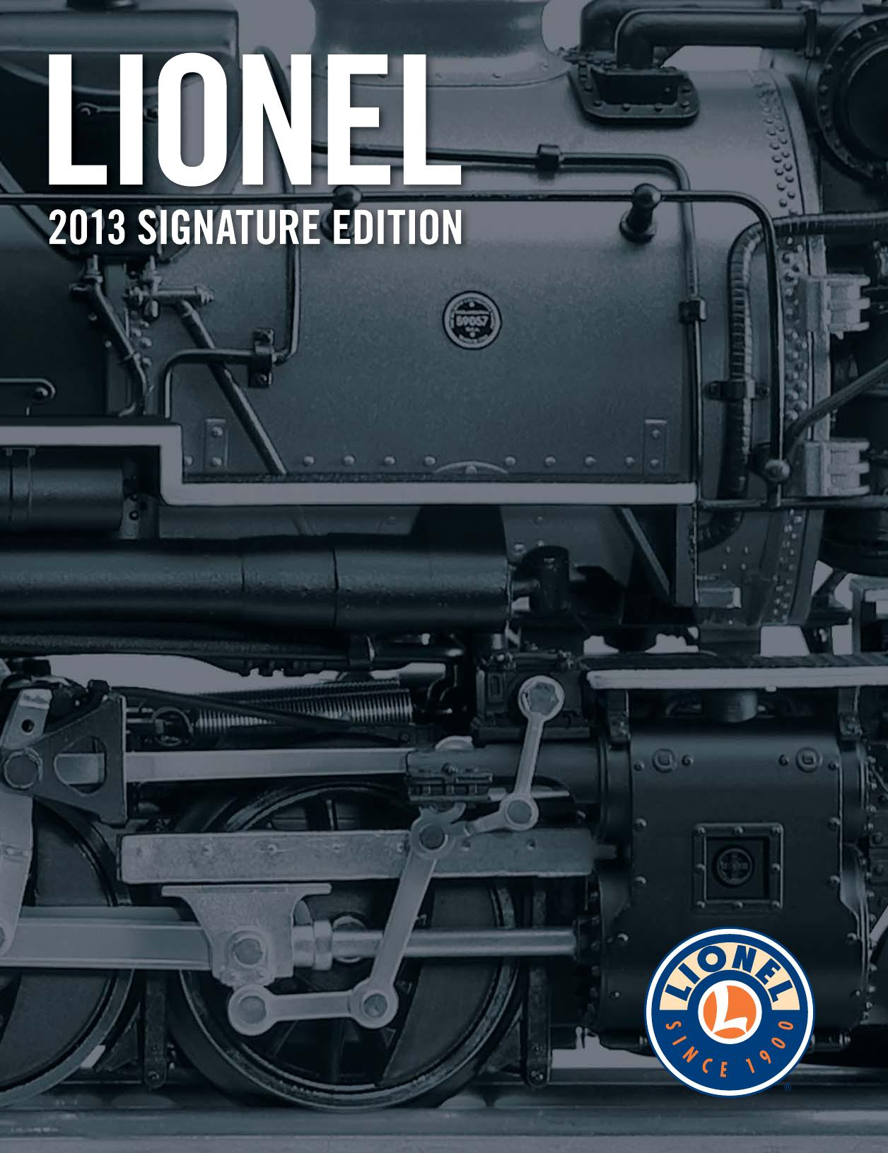 Lionel Catalogs - Signature Edition 2013
