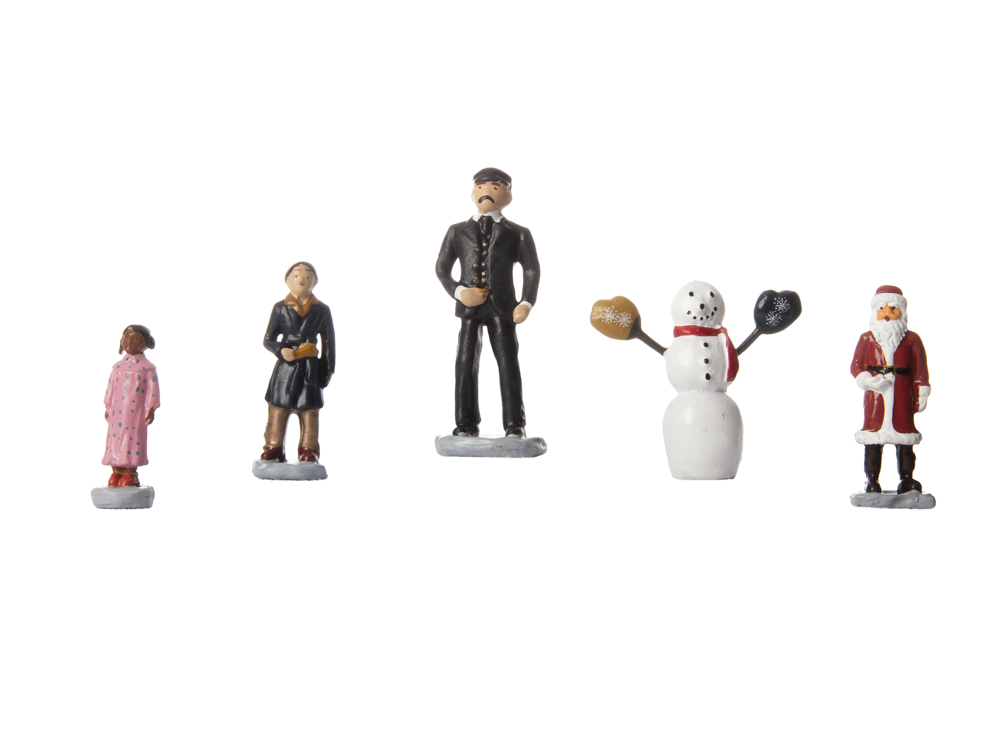 Lionel 1830010 O Snowman and Children Polar Express Conductor Hero Boy Snowman Hero Girl and Santa Claus