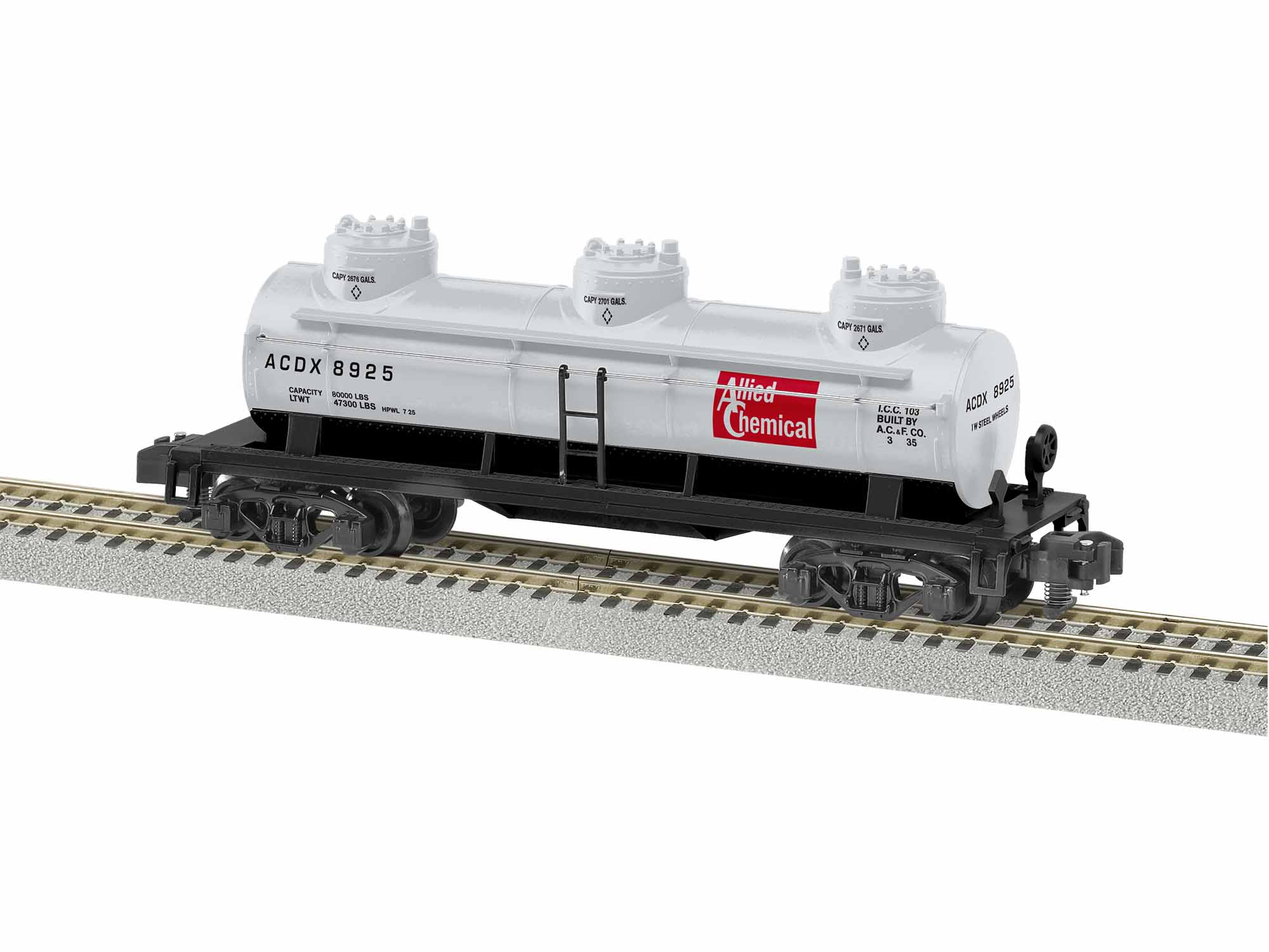 LNL1919272 Lionel S AF 3-Dome Tankcar,Allied Chemical #8925