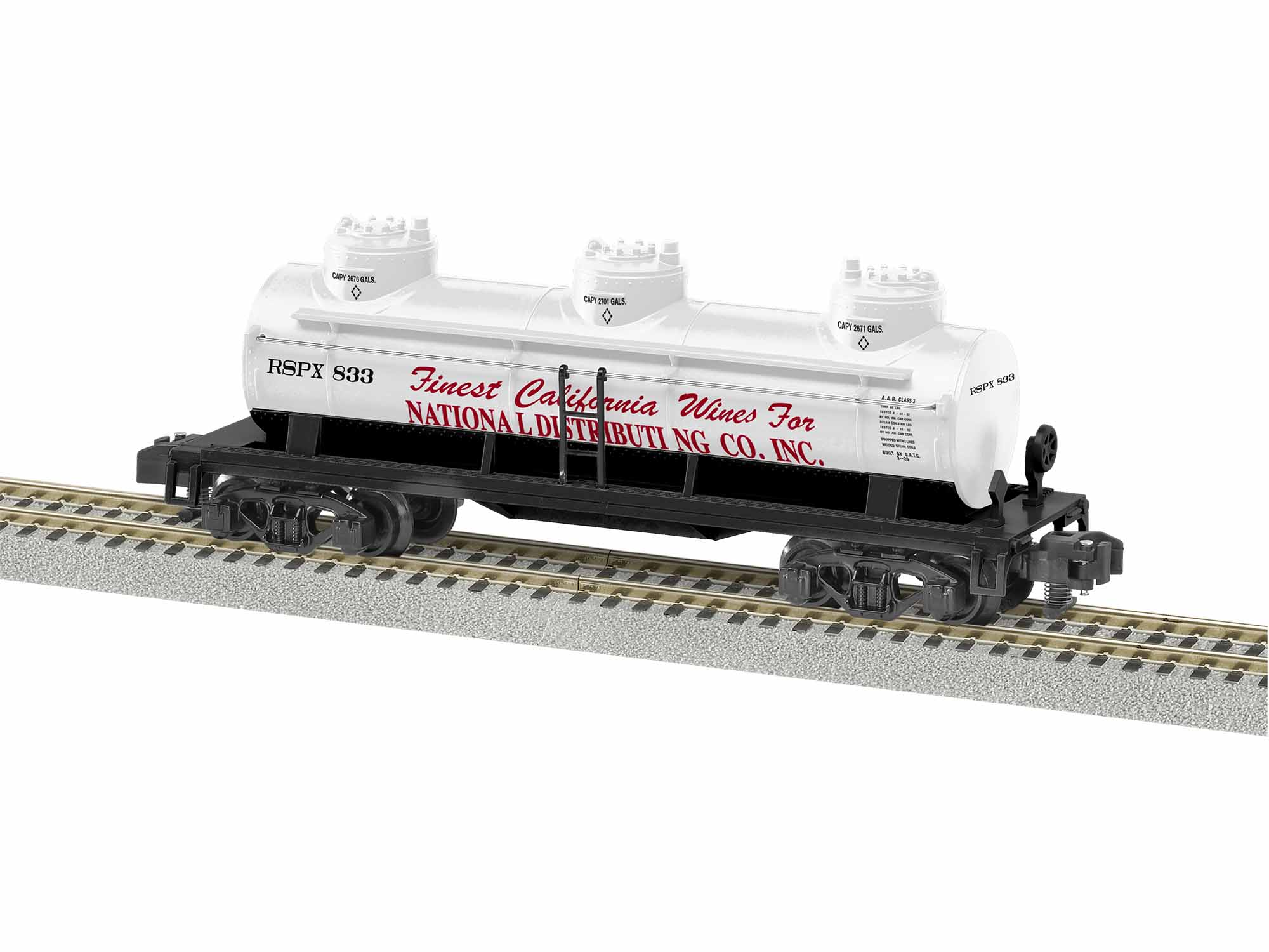 LNL1919291 Lionel S AF 3-Dome Tankcar, National Distributing #833