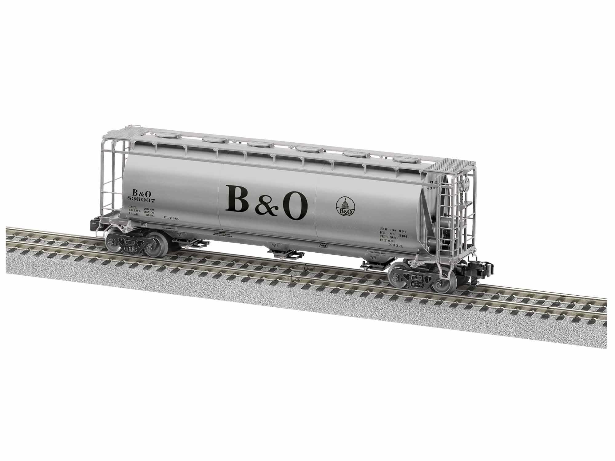 LNL1919332 Lionel S AF Cylindrical Hopper, B&O #836196
