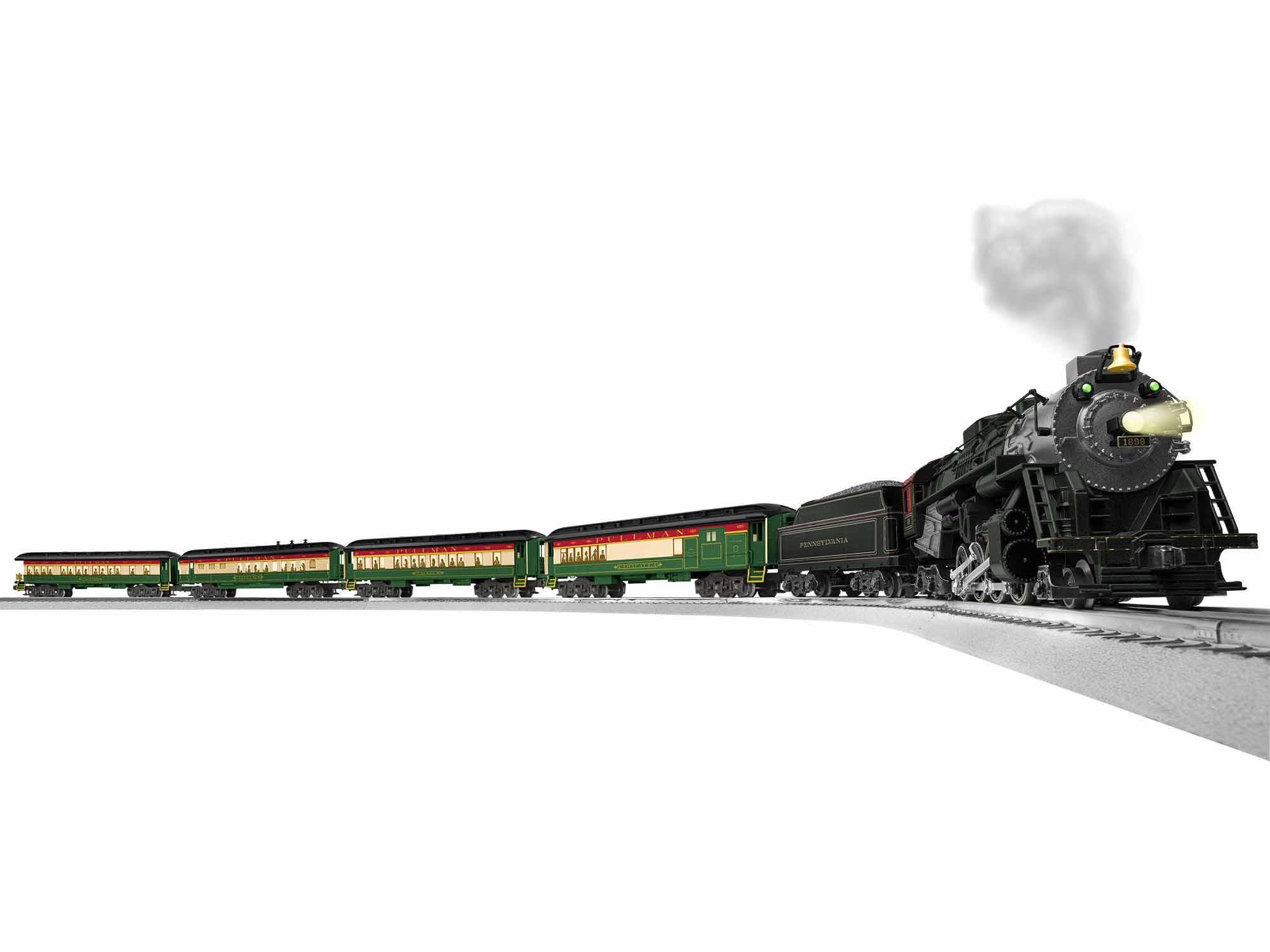 Lionel 1922070 O Pennsylvania Limited Train-Only Passenger Set 3-Rail LionChief+ 2.0 Berkshire 2-8-4 4 Cars