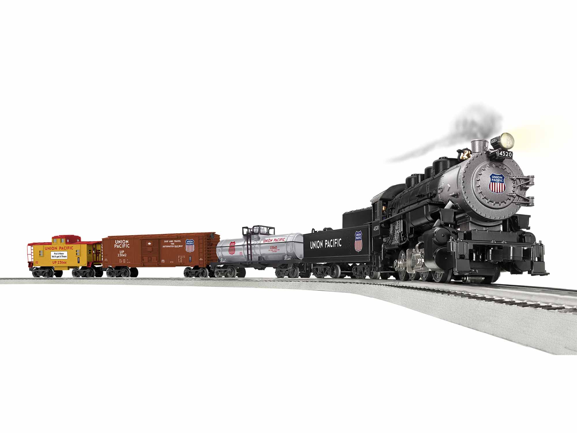 Lionel 1923040 O Union Pacific Flyer Steam Freight Set 3-Rail LionChief Bluetooth Union Pacific 0-8-0, 3 Cars