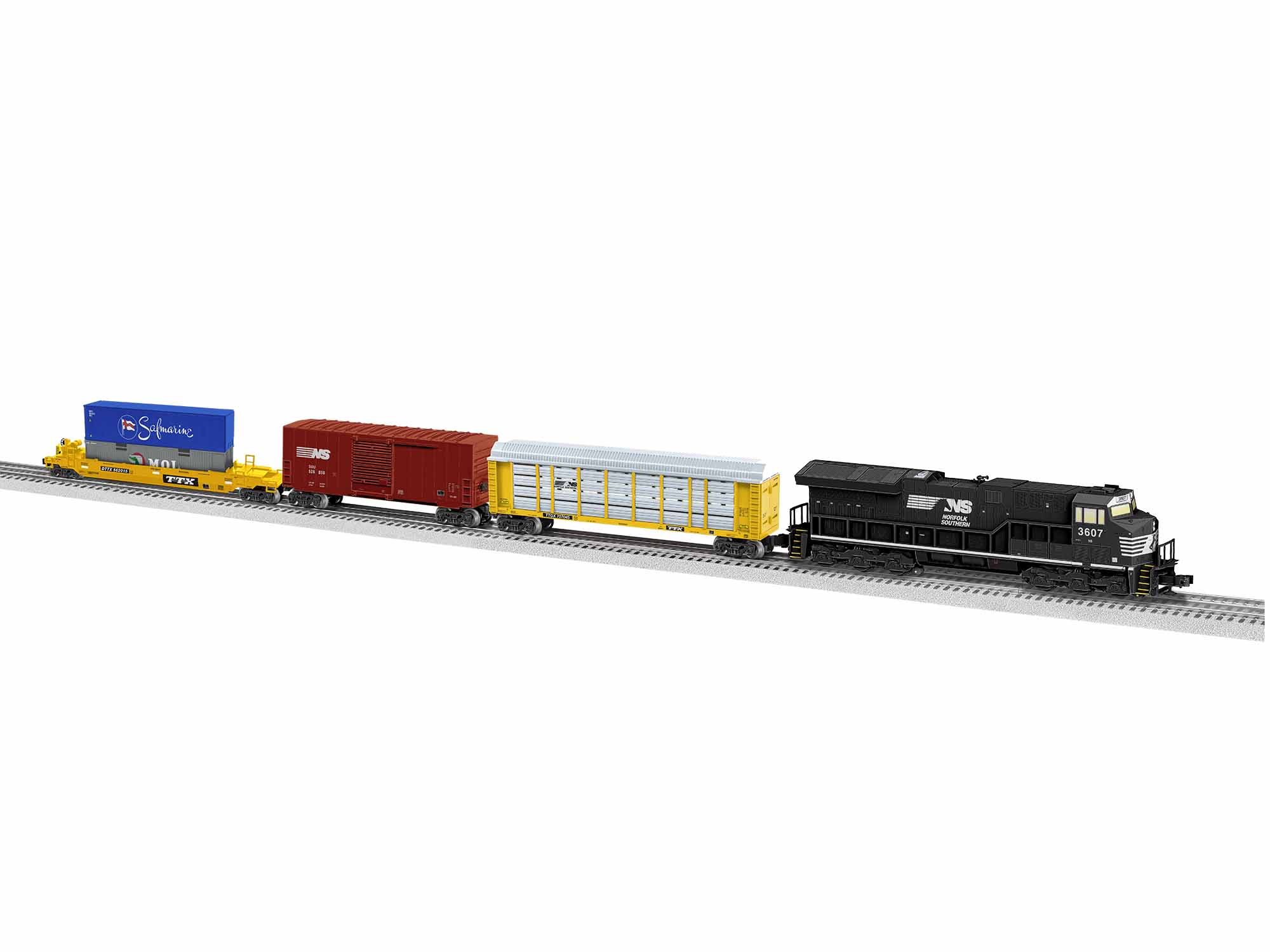 Lionel 1923050 O Norfolk Southern Tier 4 ET44C4 Freight Set 3-Rail LionChief Bluetooth NS ET44C4
