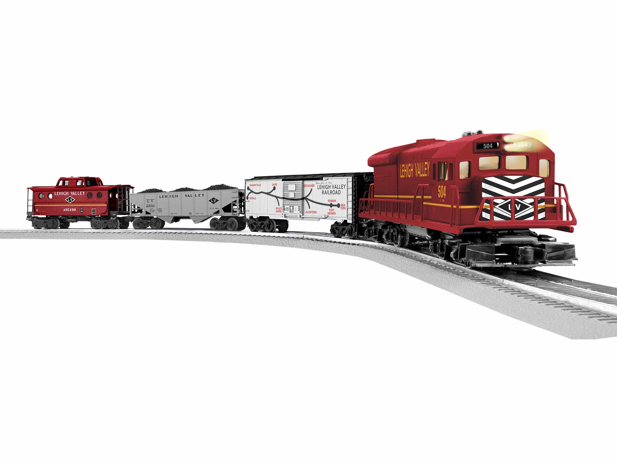 Lionel 1923090 O Lehigh Valley U36B Freight Set 3-Rail LionChief Bluetooth Remote Control
