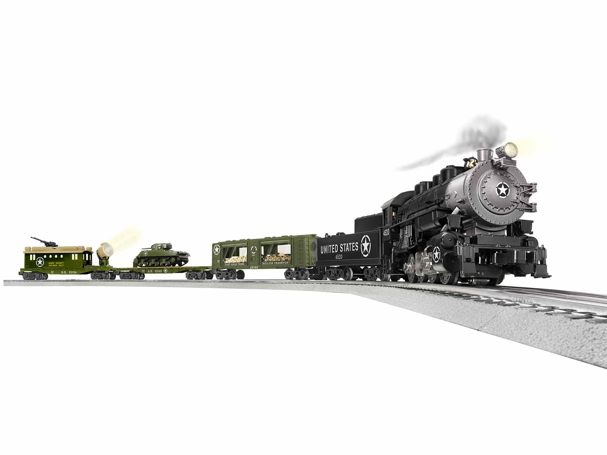 Lionel 1923100 O U.S Steam Freight Set 3-Rail LionChief Bluetooth Remote Control