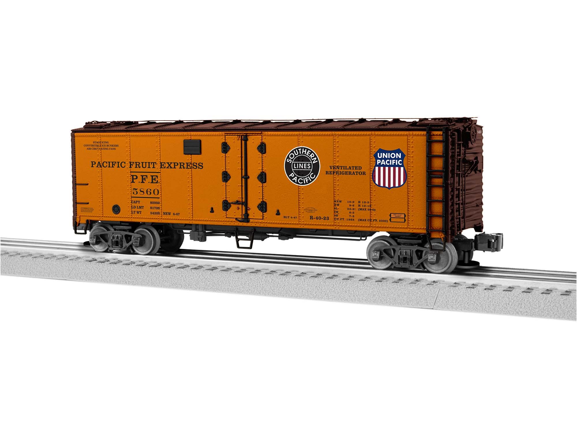 Lionel Trains Pacific Fruit Express Reefer Car