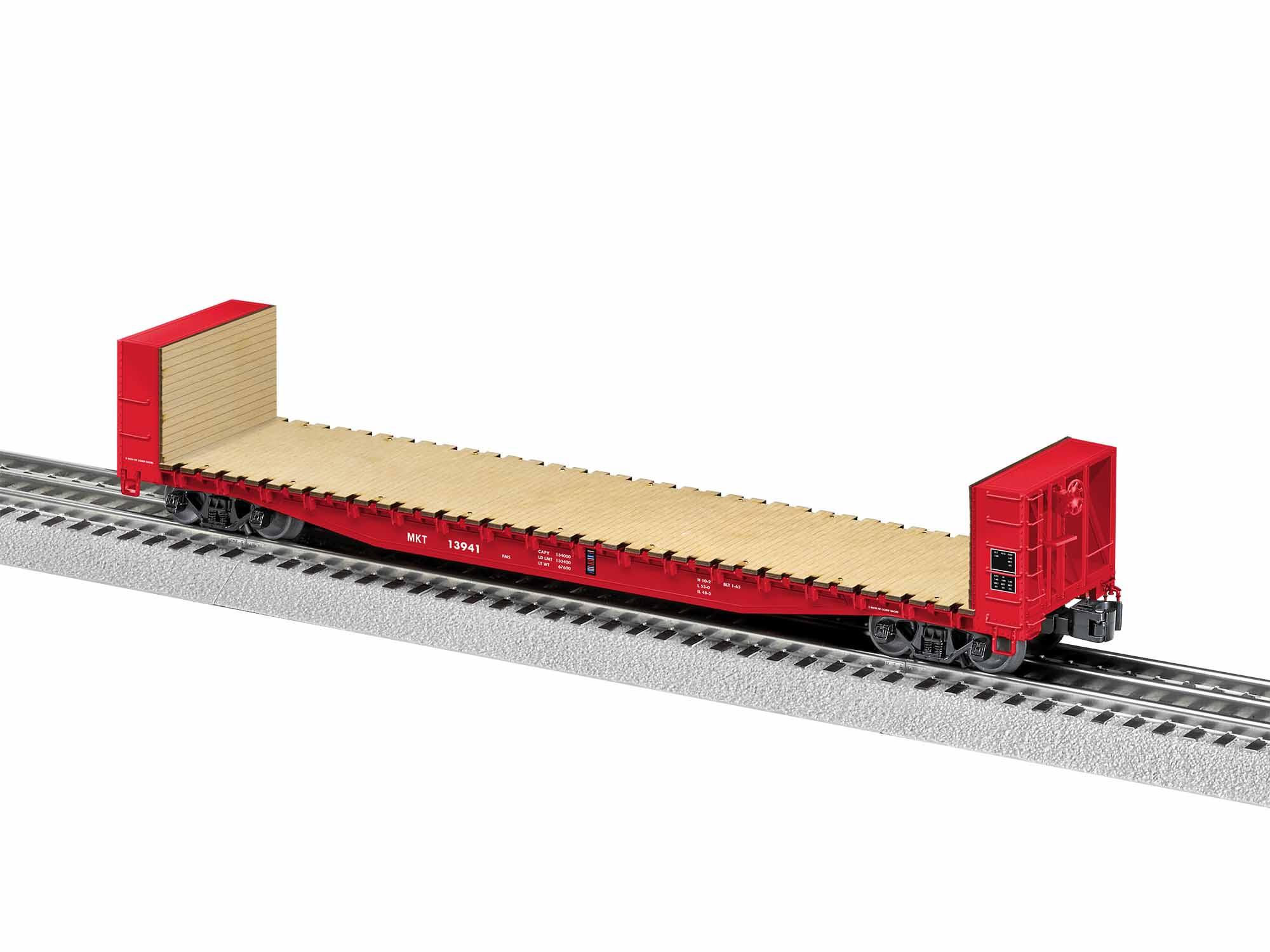 LNL1926412 Lionel O 50' Bulkhead Flatcar, MKT #13941