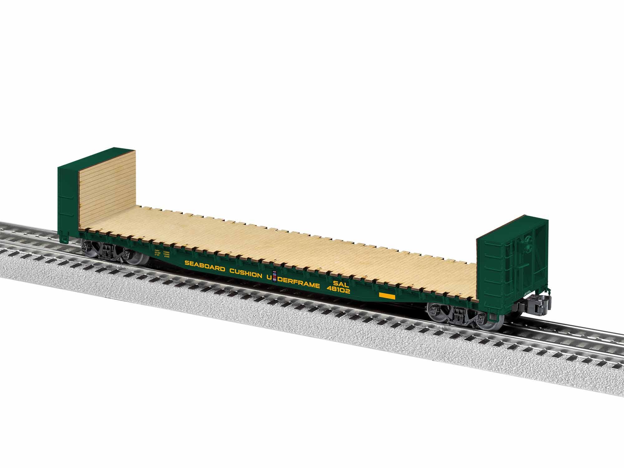 LNL1926421 Lionel O 50' Bulkhead Flatcar, SAL #48102