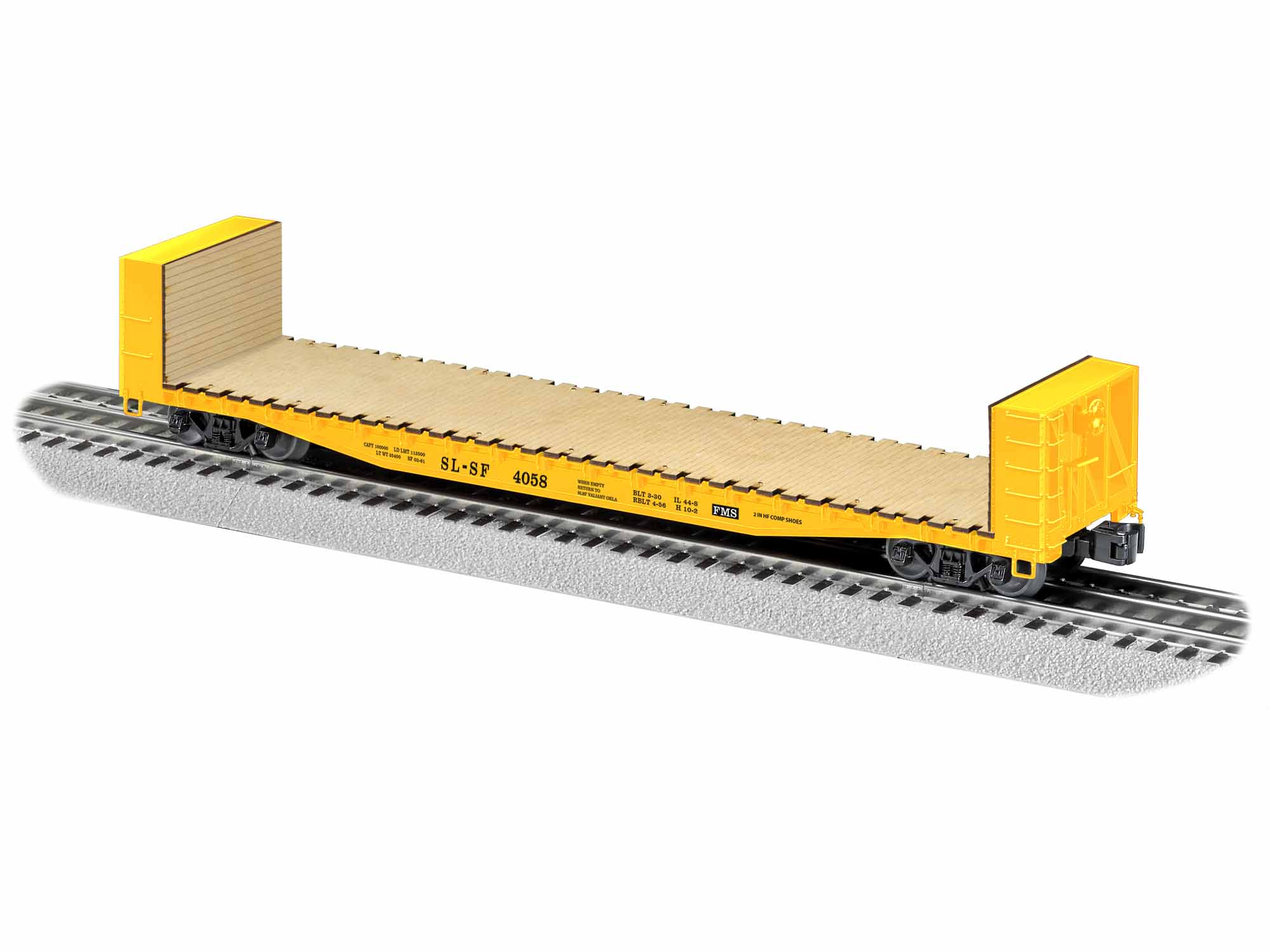 LNL1926432 Lionel O 50' Bulkhead Flatcar, SLSF #4058