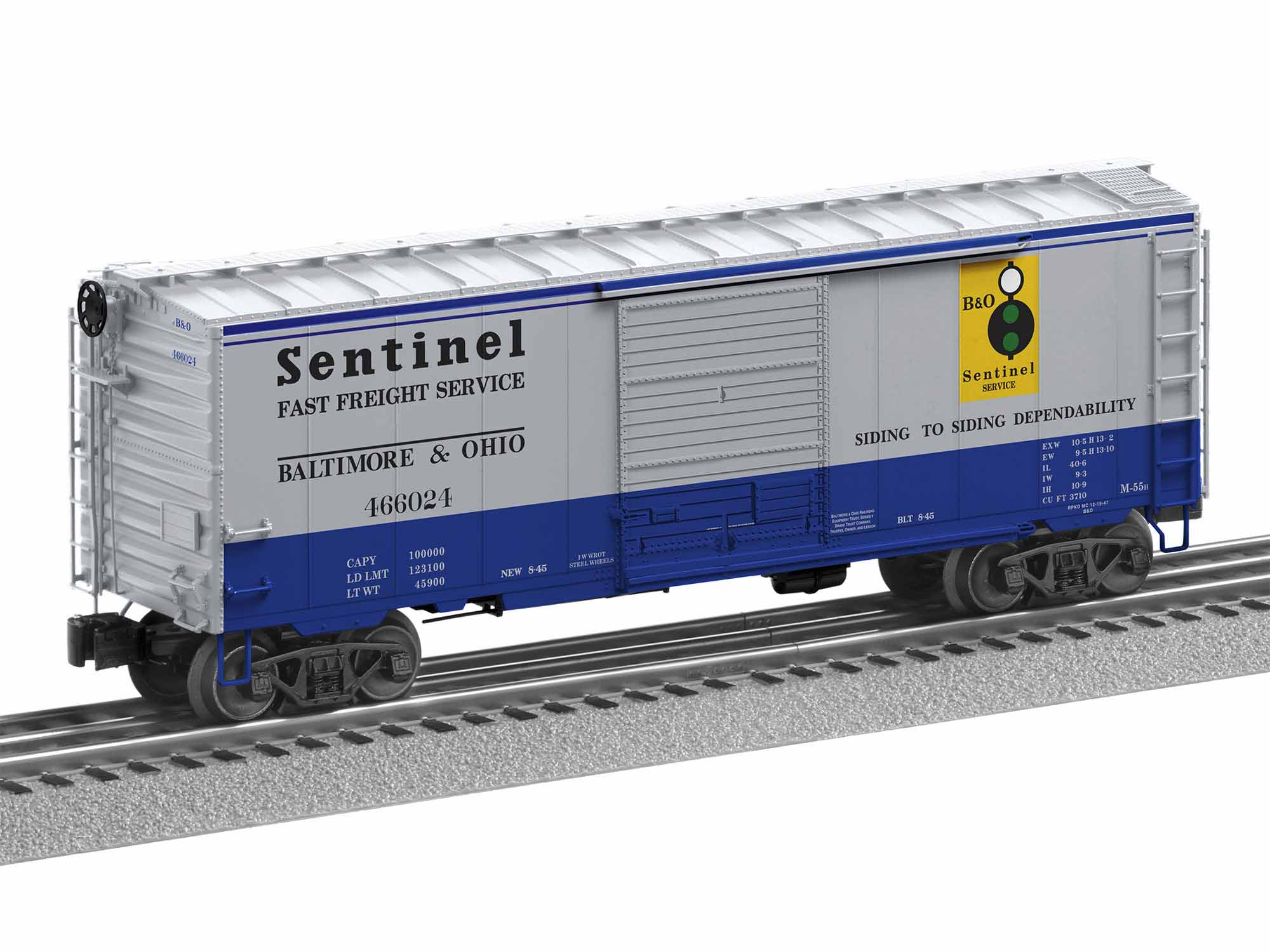 LNL1926620 Lionel O PS-1 Box w/Freight Sound, B&O Sentinel #466024