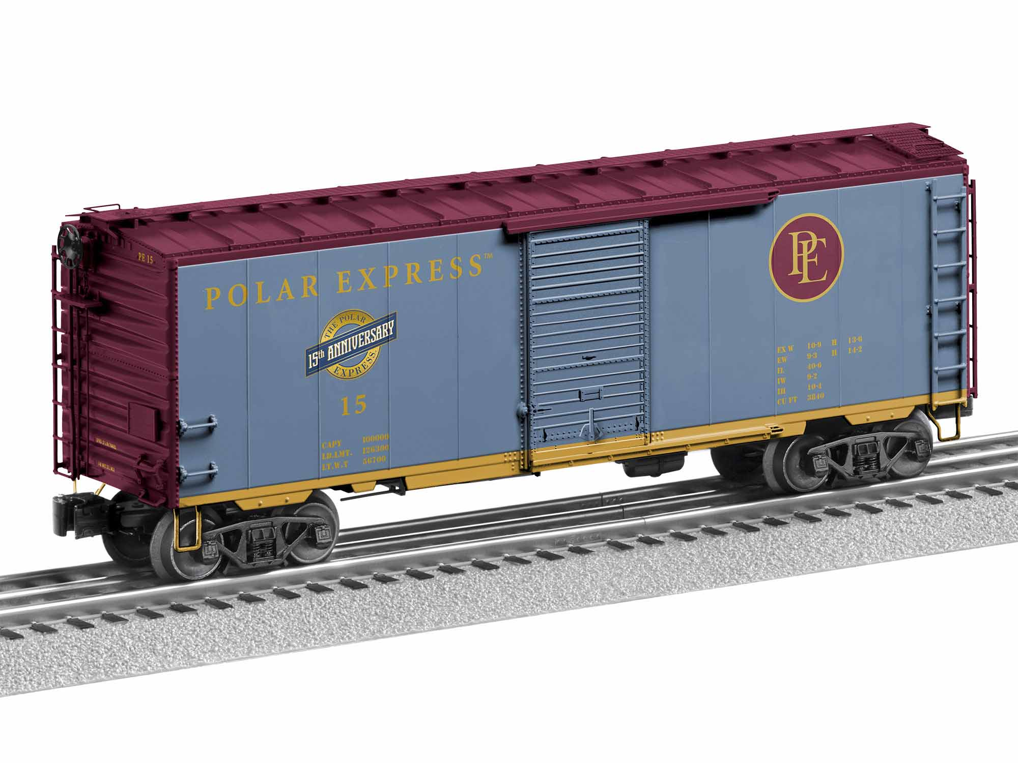 Lionel 1926820 O PS-1 40' Boxcar w/ FreightSounds 3-Rail Polar Express 15 15th Anniversary Scheme 434-1926820