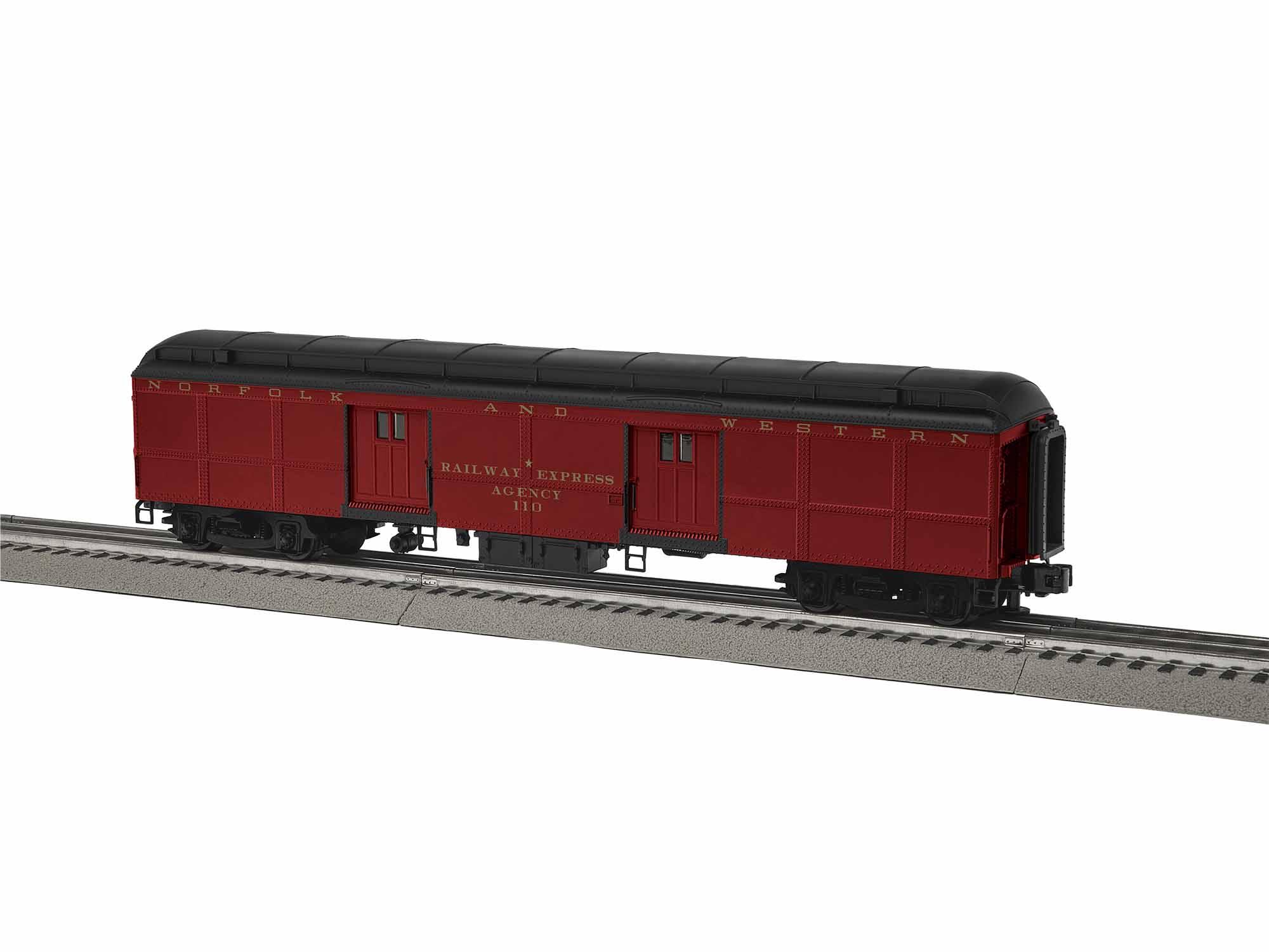 Lionel 1927242 O Heavyweight Baggage Car 3-Rail Norfolk & Western 110 Cavalier Scheme