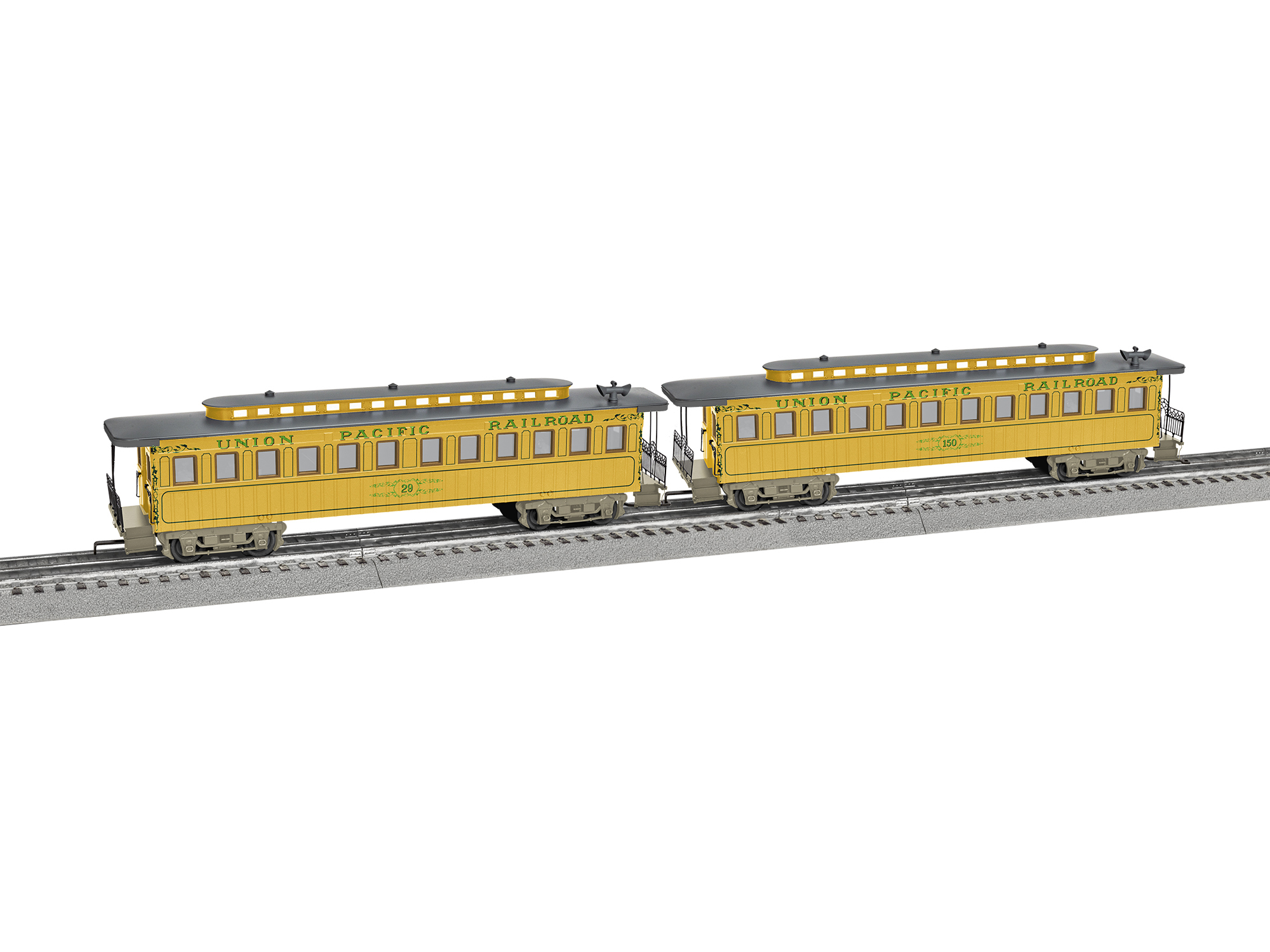 Lionel 1927380 O UP Wood Coach 2pk 434-1927380