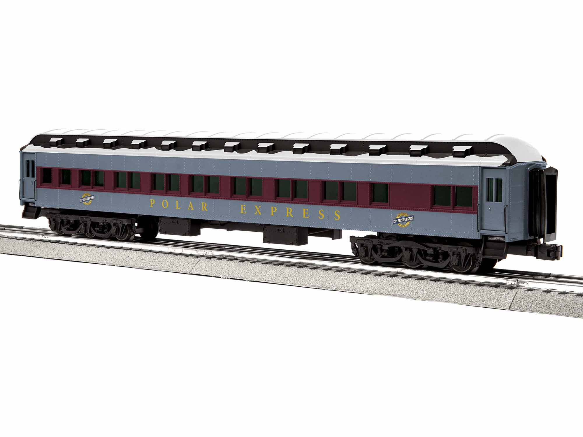 Lionel 1927650 O 6-Axle Coach 3-Rail Polar Express 15th Anniversary Scheme