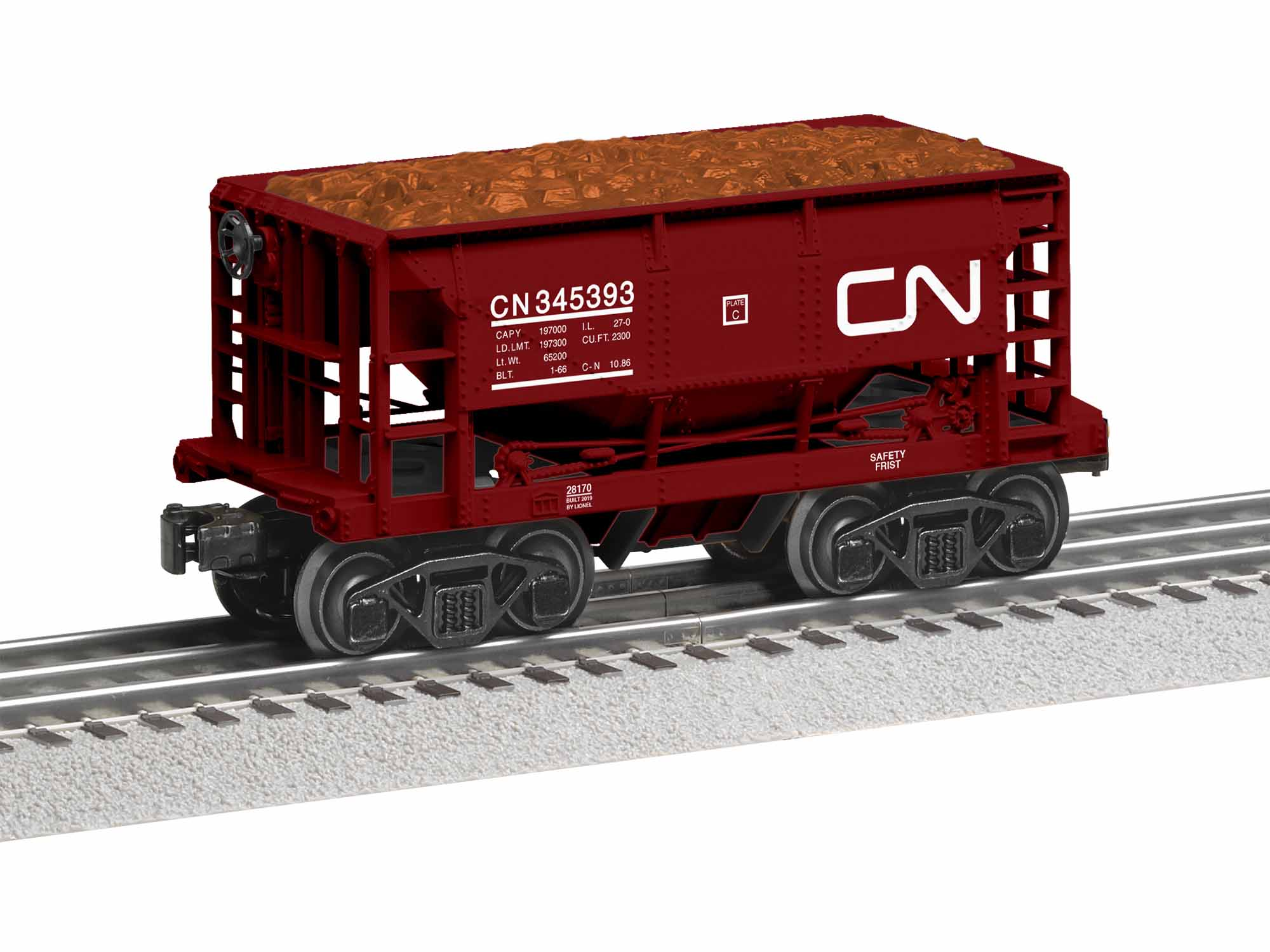 LNL1928170 Lionel O-27 Hopper, CN (6)