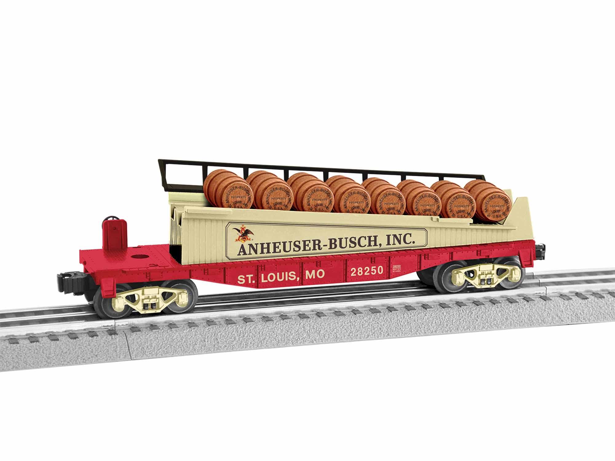 Lionel 1928250 O-27 Anheuser-Busch Barrel Car