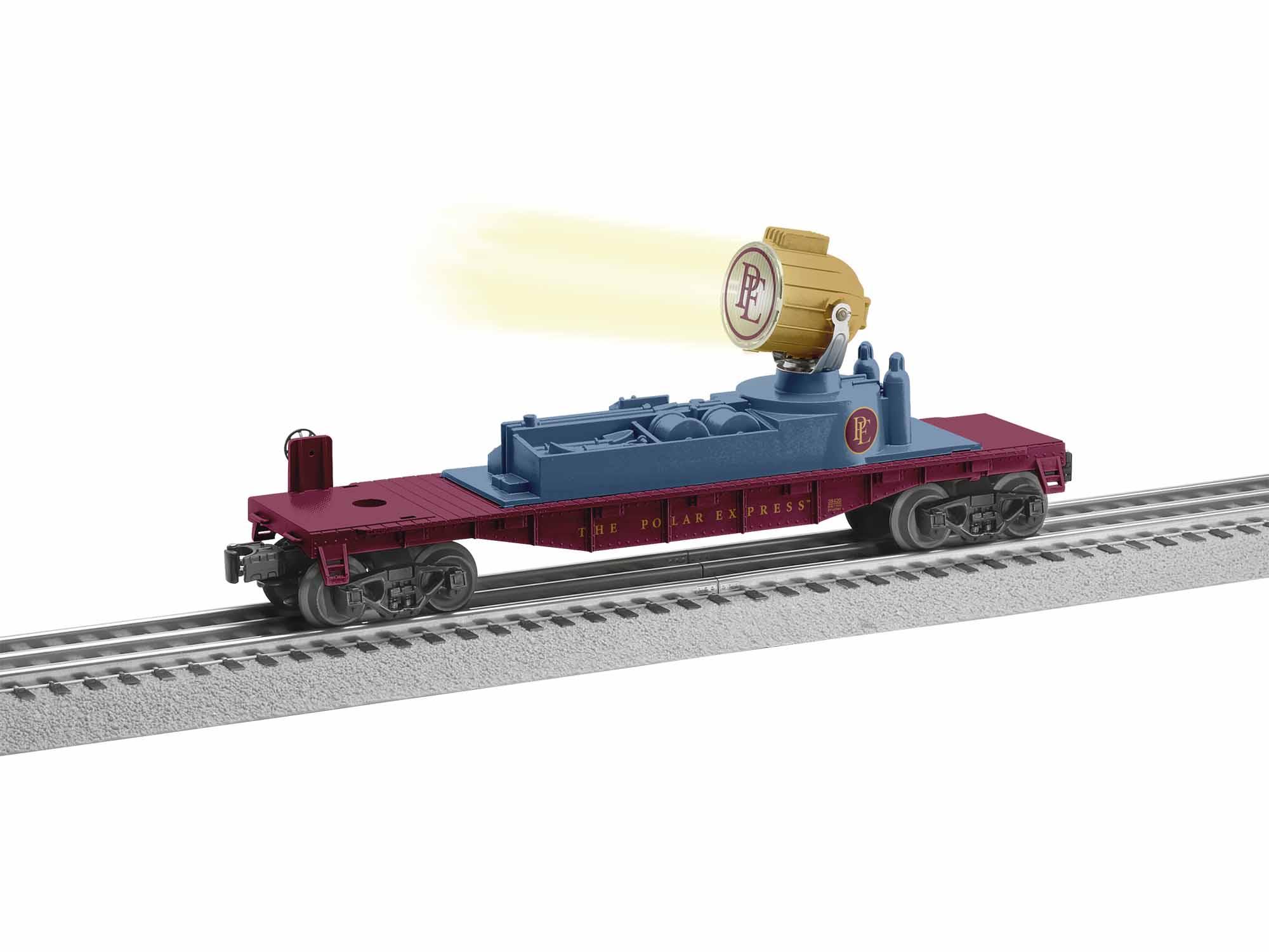 Lionel 1928420 O Searchlight Car 3-Rail Polar Express