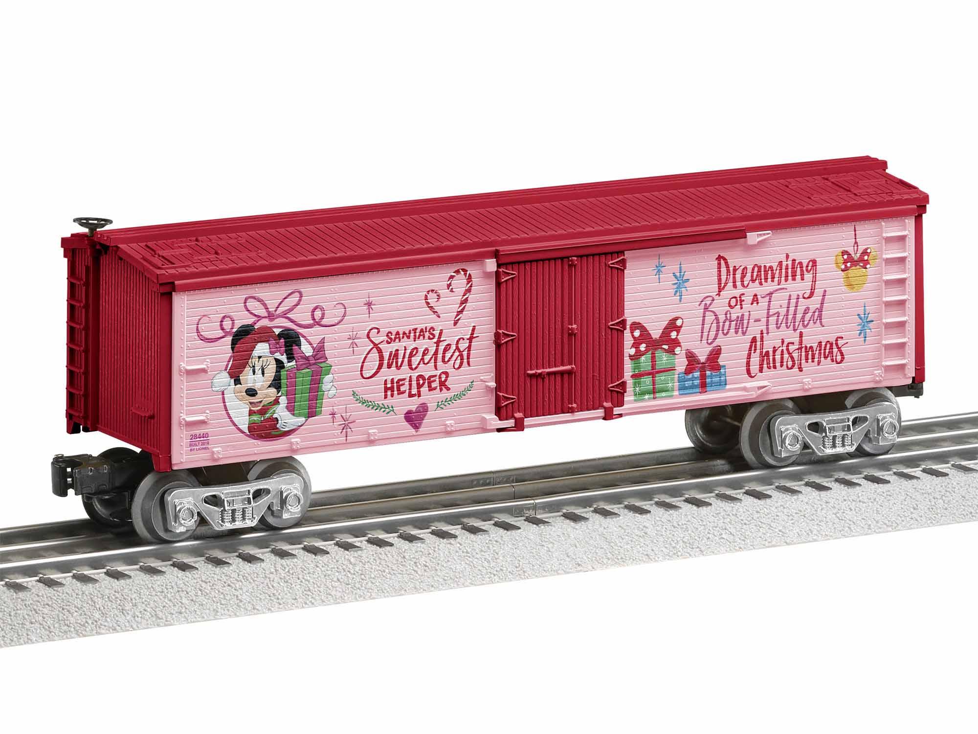 Lionel 1928440 O Reefer 3-Rail Disney Minnie Mouse Santa's Sweetest Helper