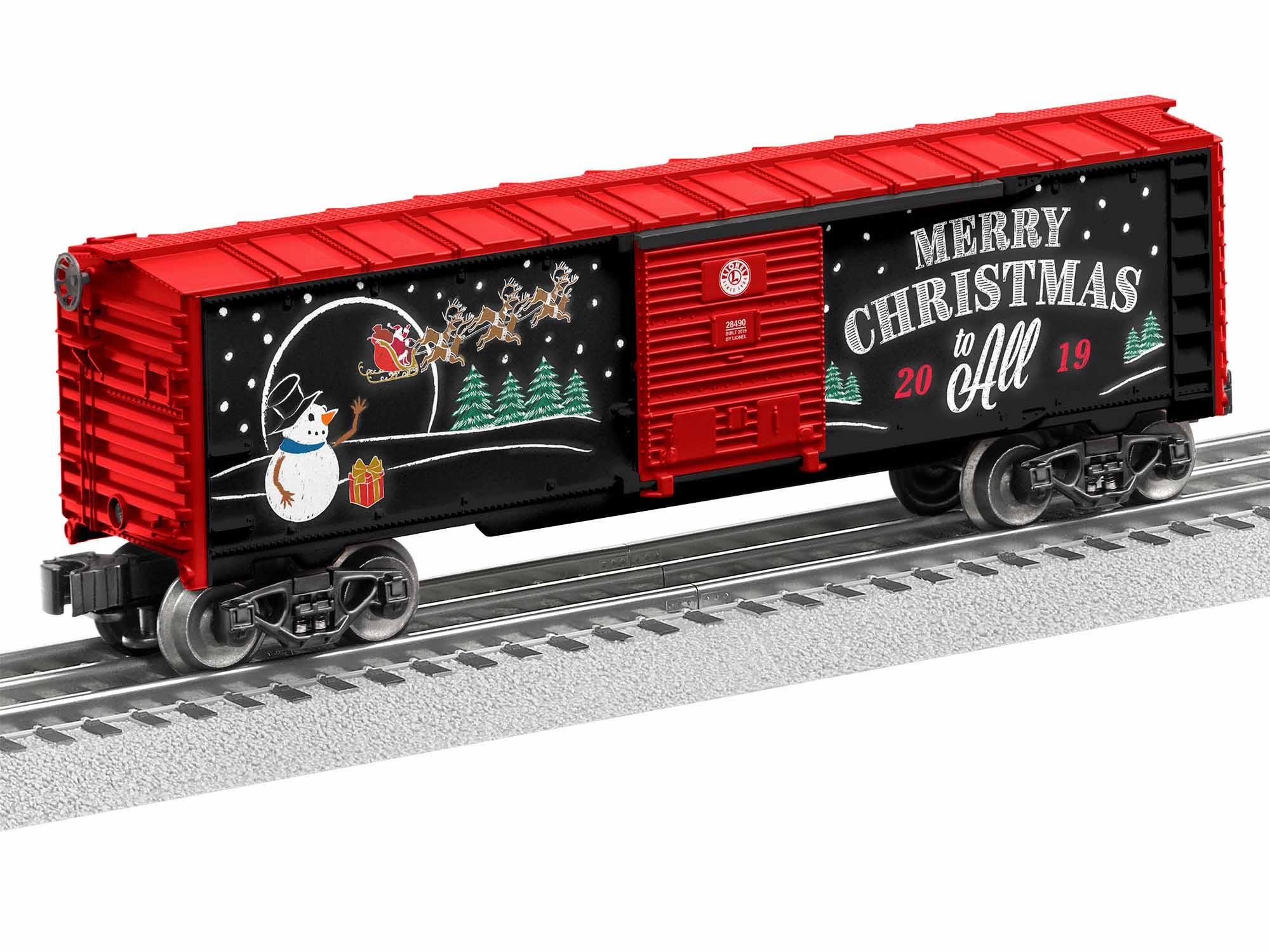 LNL1928490 Lionel O-27 2019 Christmas Boxcar