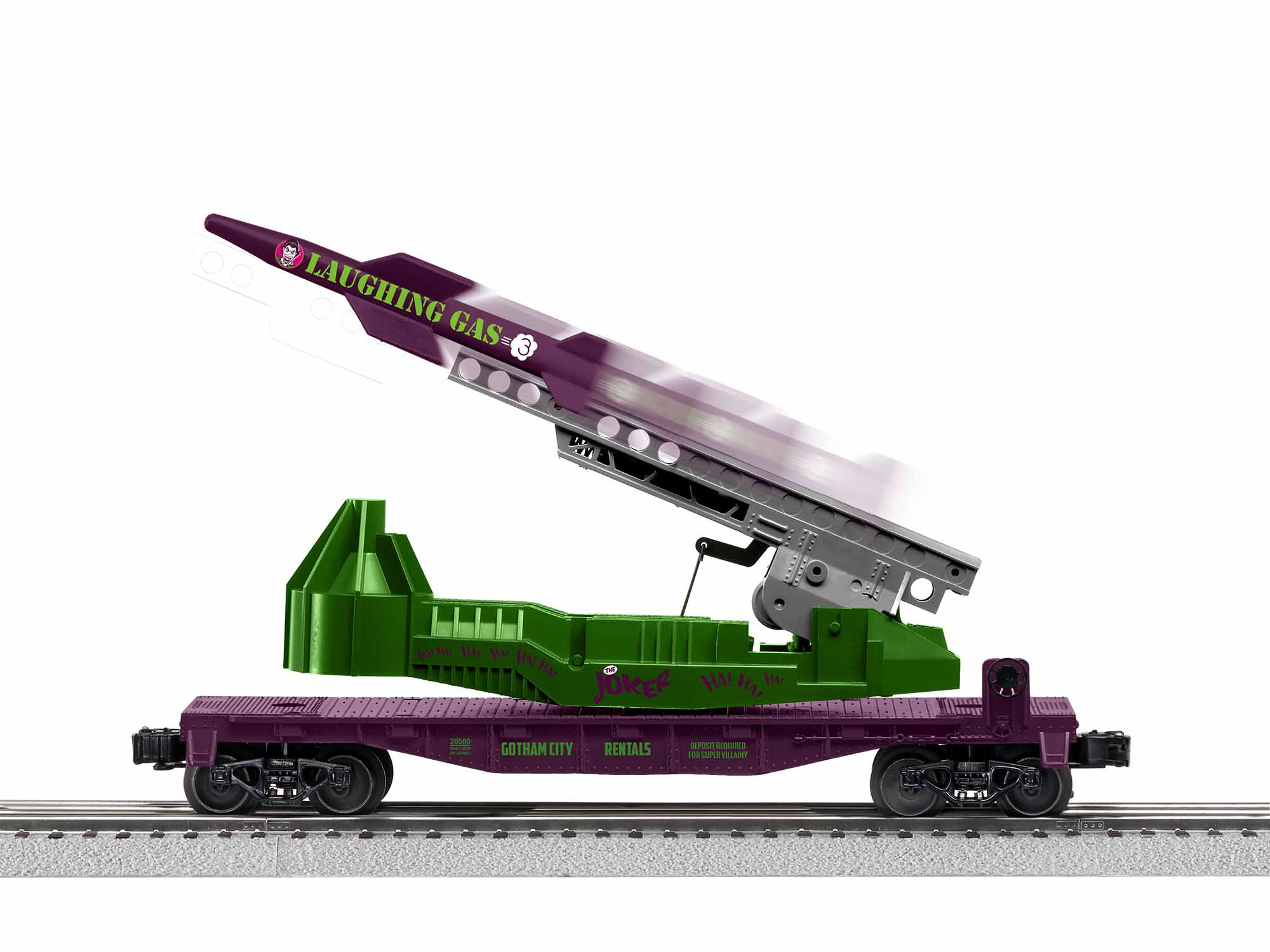 LNL1928580 Lionel O-27 Jokers Laughing Gas Missile Car