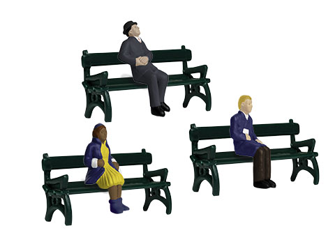 Lionel 1930190 O Sitting People with Benches 6-Pack