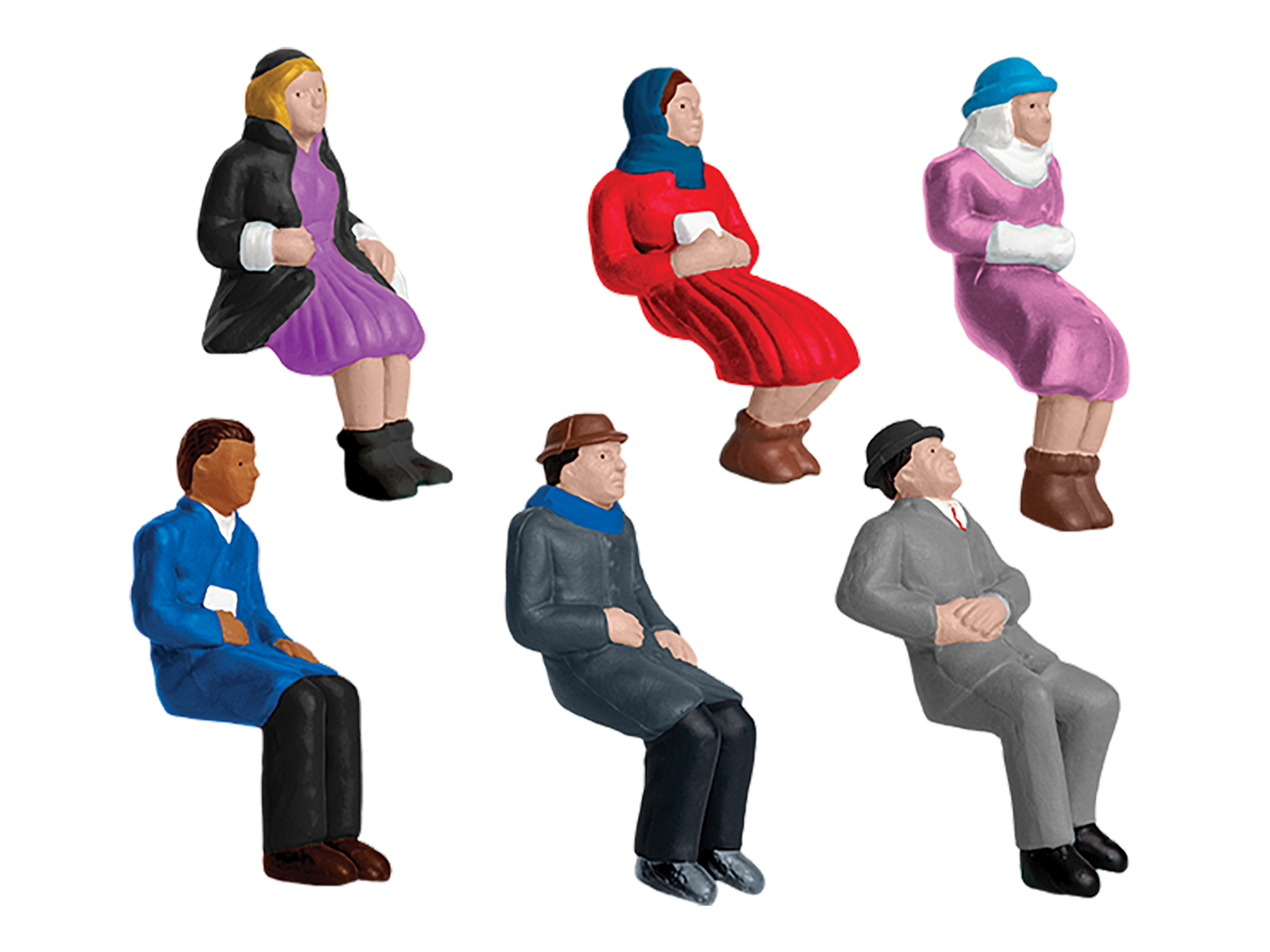 Lionel 1930220 O Sitting People 6-Pack