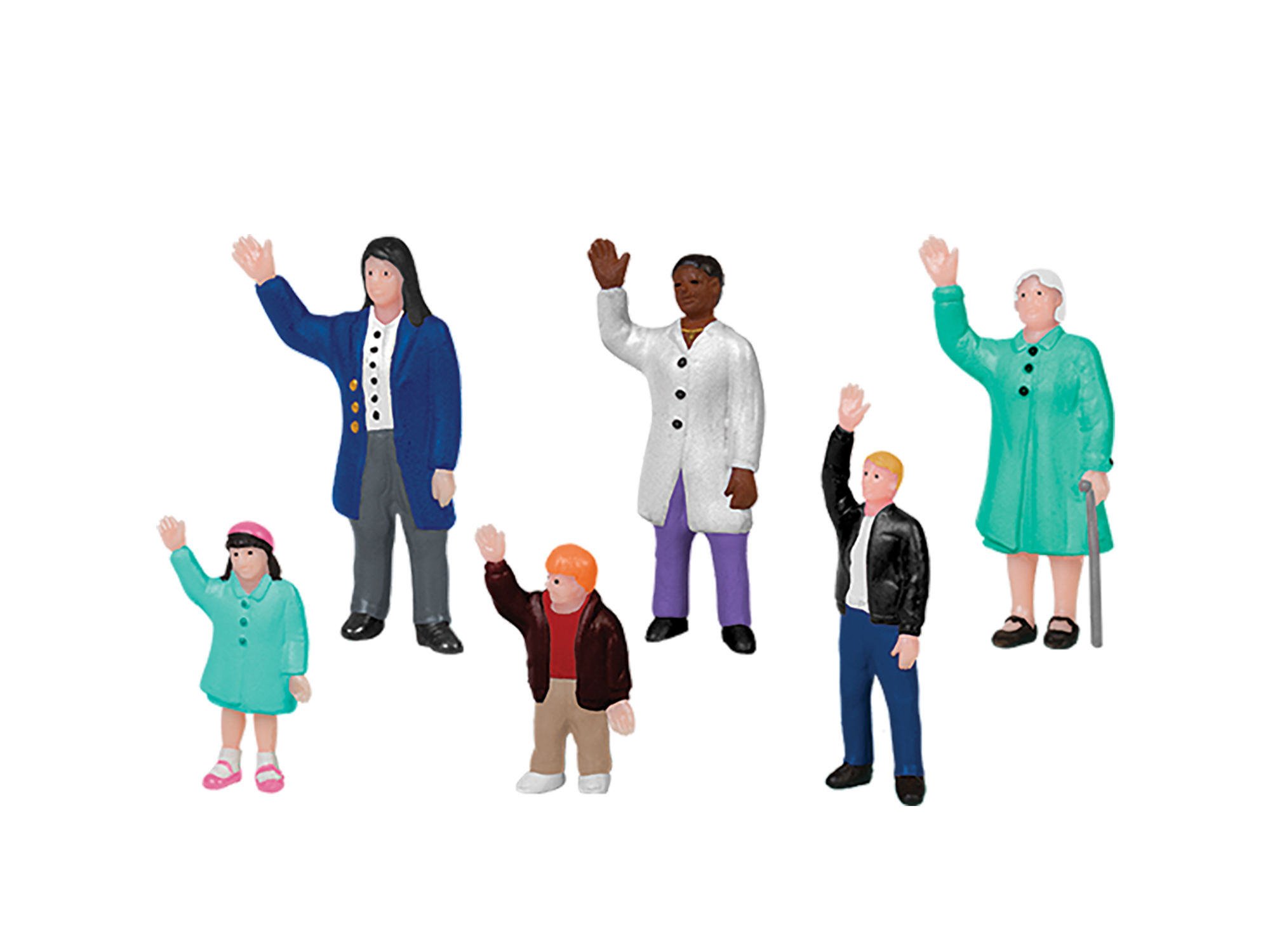 Lionel 1930240 O People Waving 6-Pack