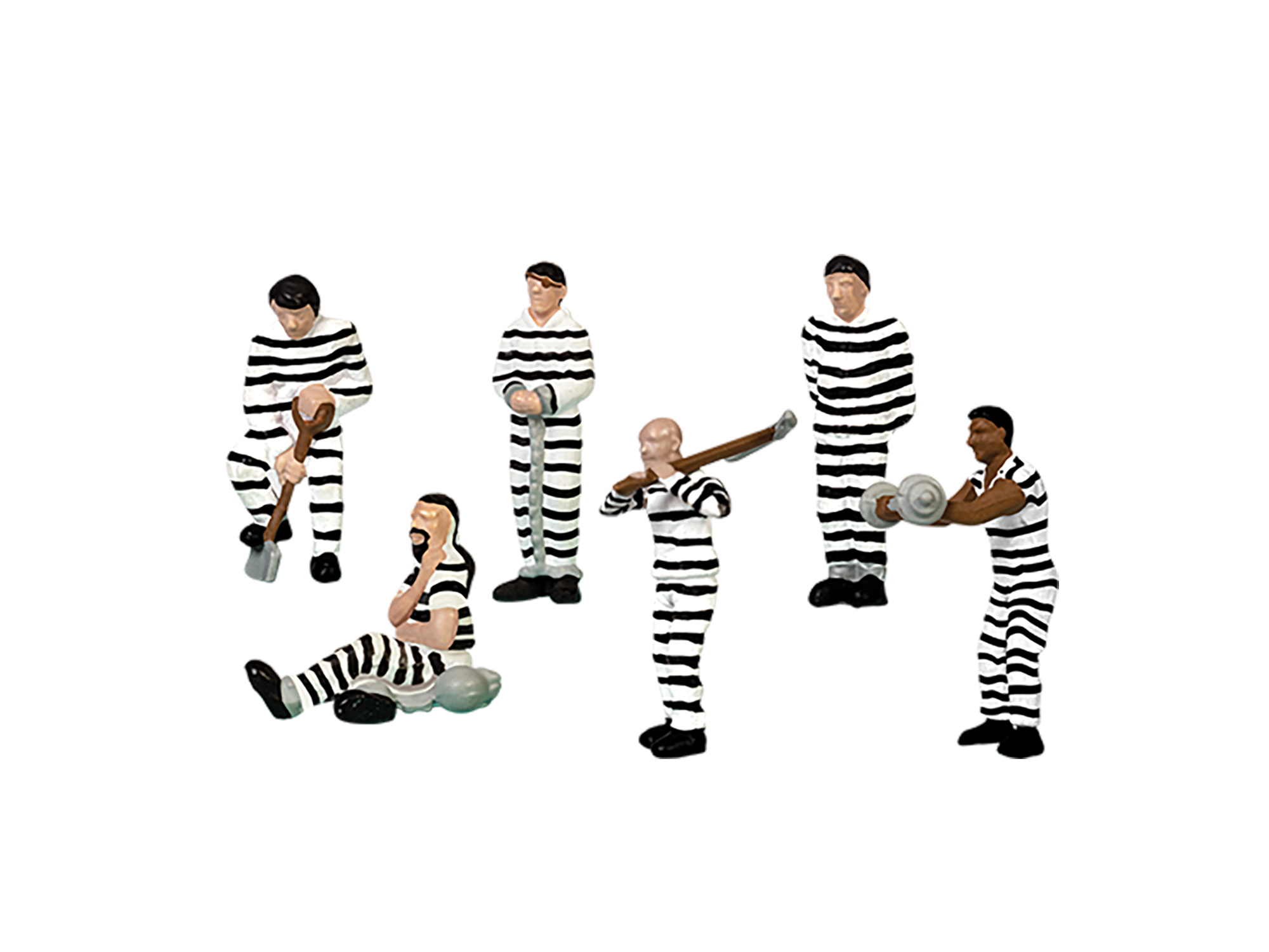 Lionel 1930260 O Prisoners (striped) 6-Pack
