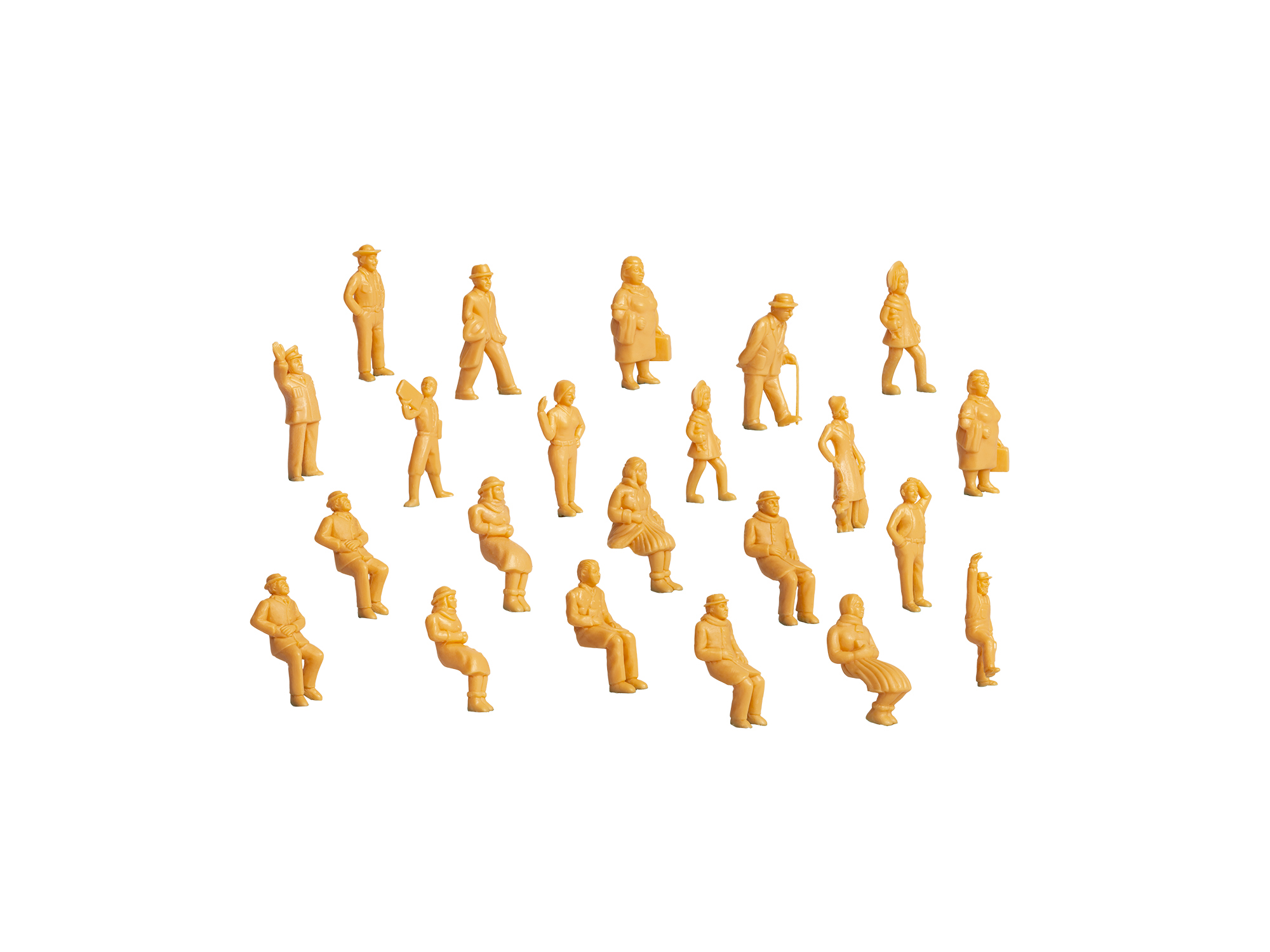 Lionel 1930300 O Unpainted Figures 36-Pack