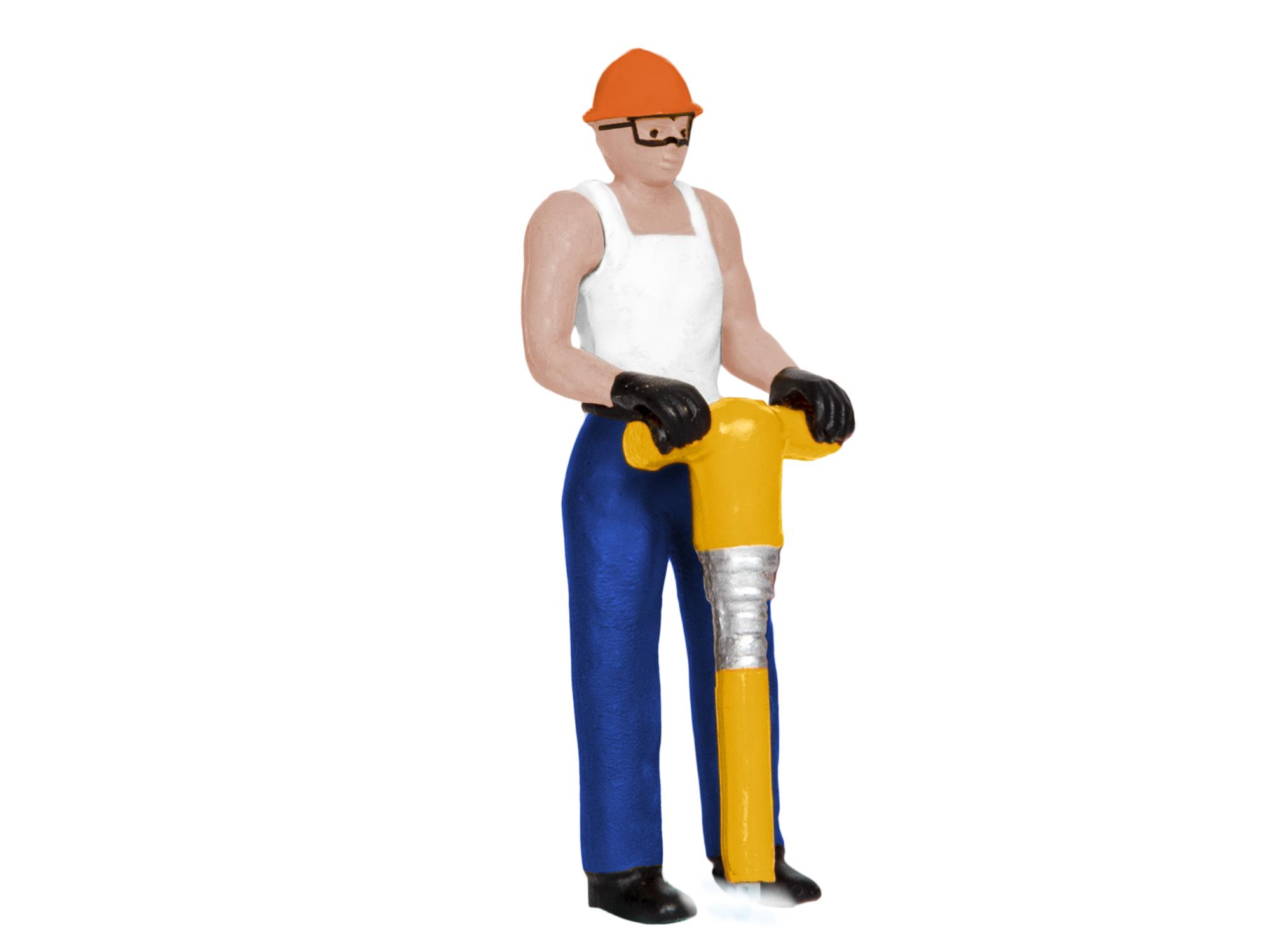 Lionel 1930360 O Man w/ Flashing Jackhammer Lighted Figure 434-1930360
