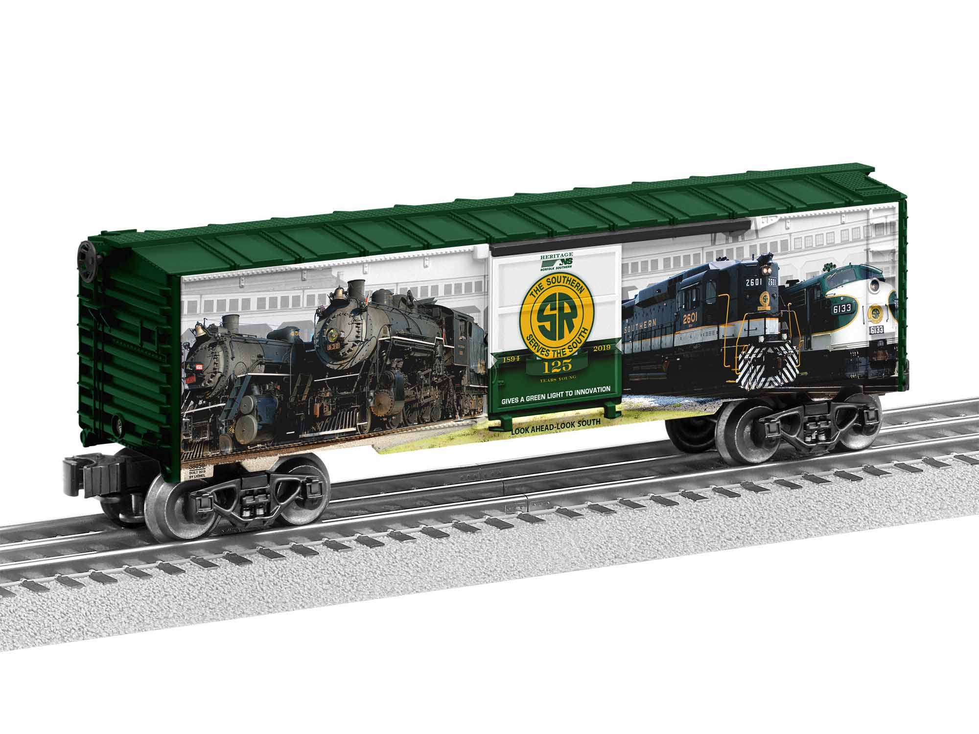 LNL1938050 Lionel O-27 Southern 125 Boxcar Made in USA