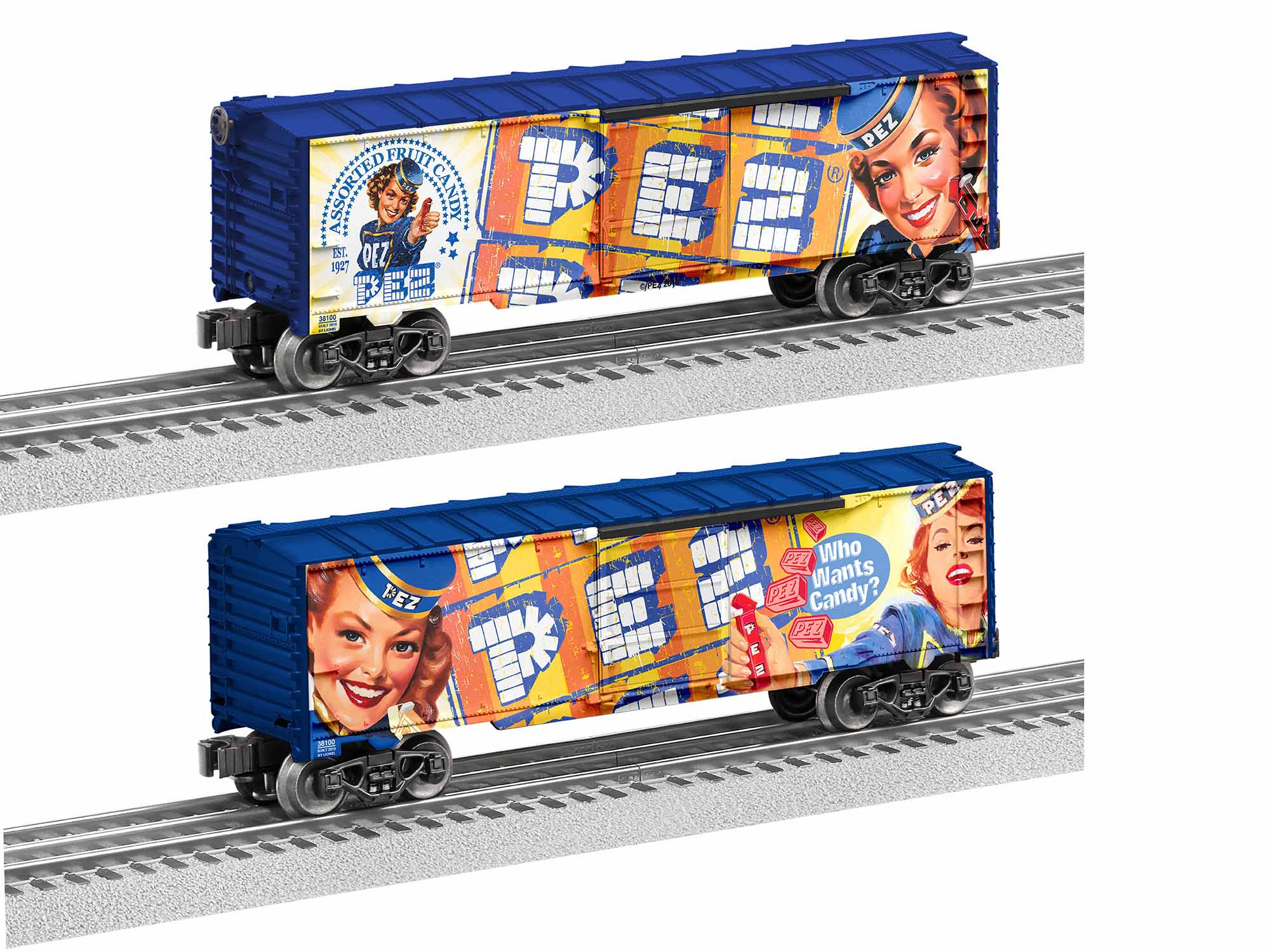 LNL1938100 Lionel O-27 PEZ Vintage Boxcar Made in USA