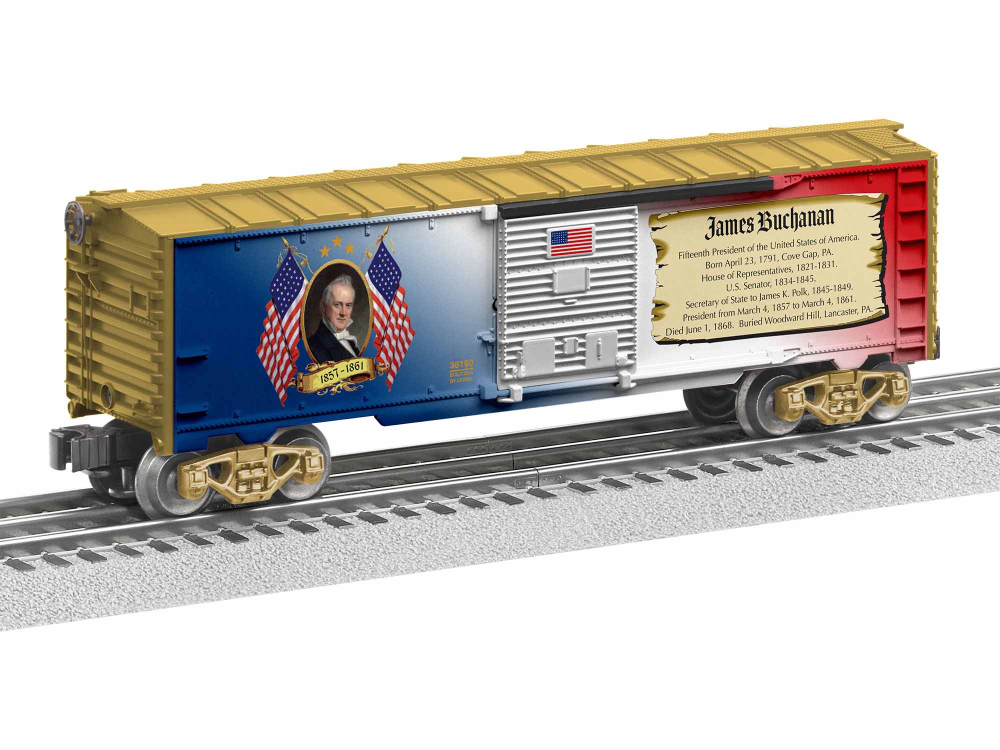 Lionel 1938190 O-27 James Buchanan Boxcar Made in USA
