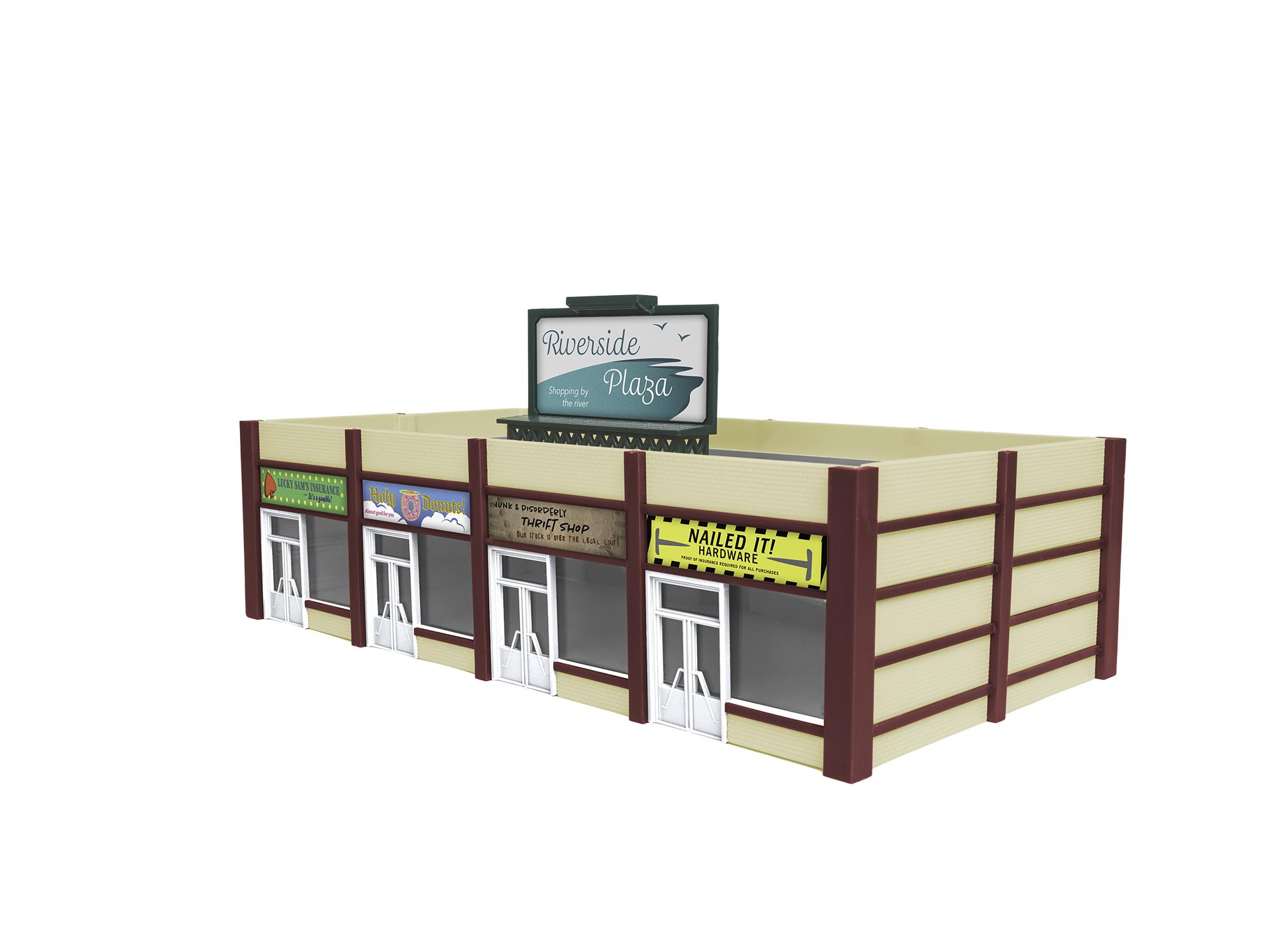 Lionel 1956180 HO Suburban Strip Mall Kit