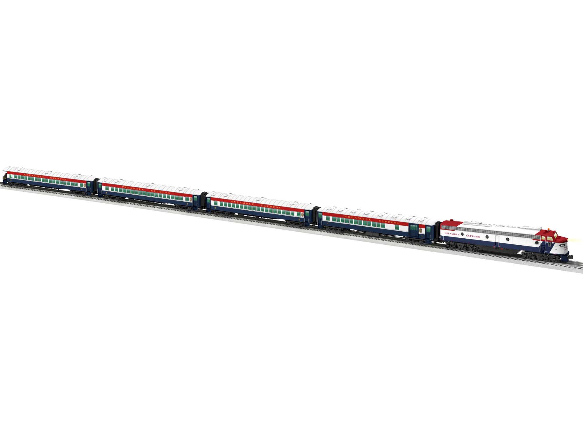 Lionel 2022080 O Passenger Set Preamble Express