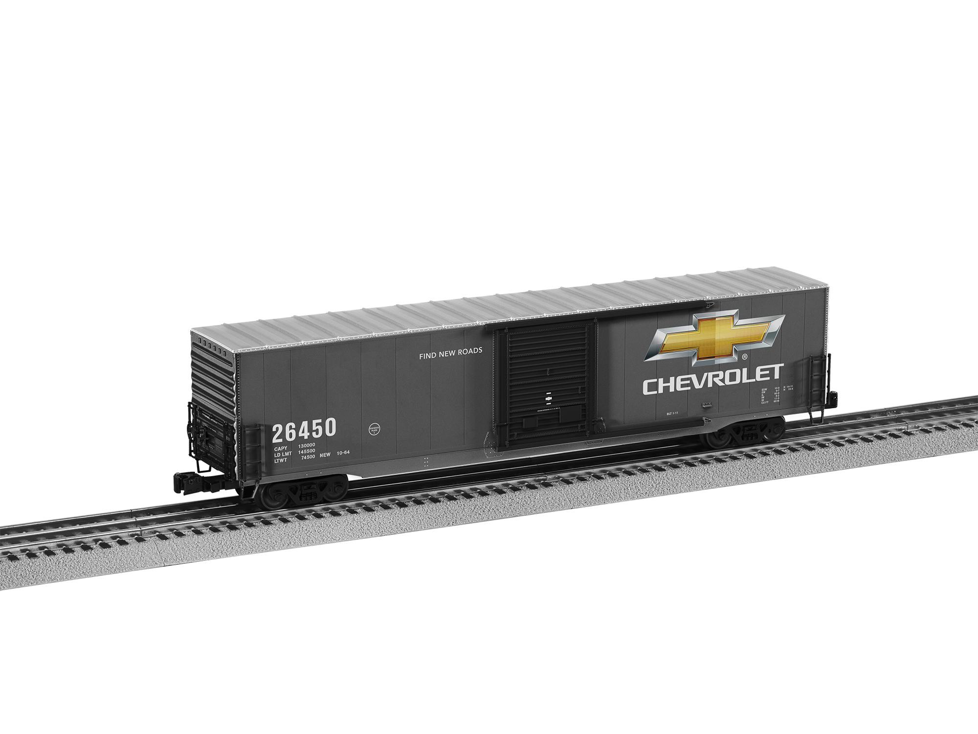 Lionel 2026450 O 60' Boxcar 3-Rail RTR Chevrolet 26450 434-2026450