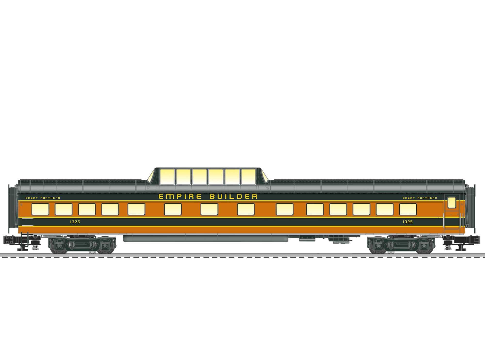 Lionel 2027680 O VistaVision Dome Car Great Northern GN #1325