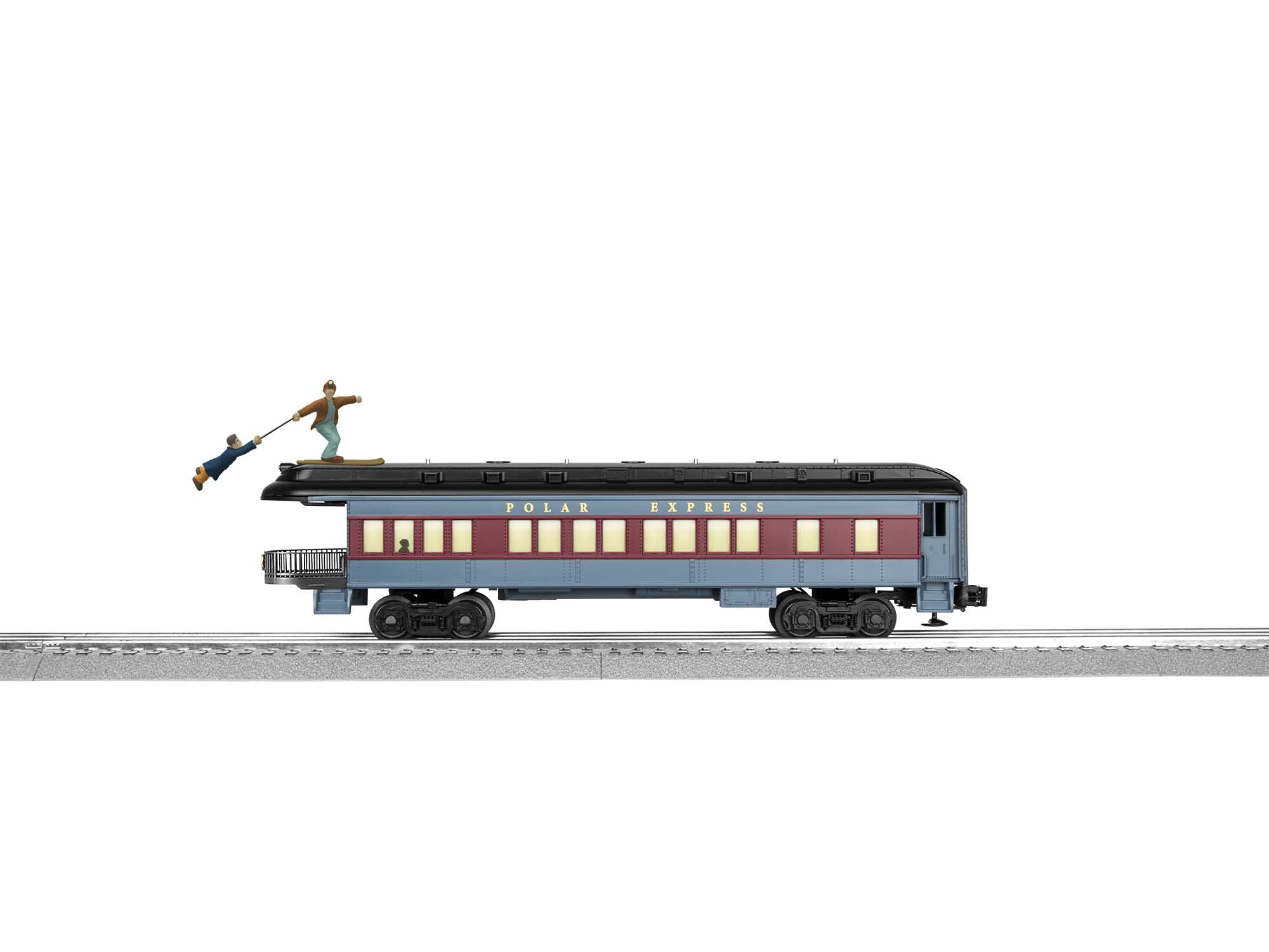 Lionel 2027800 O27 Observation Car The Polar Express Skiing Hobo
