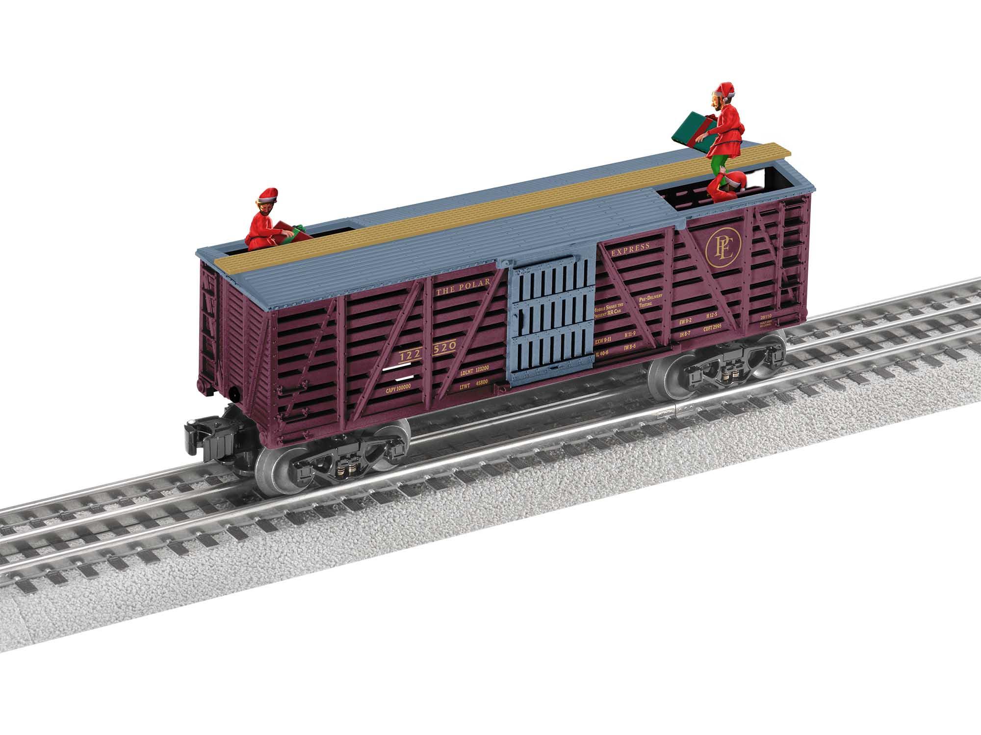 Lionel 2028110 O27 Boxcar The Polar Express Elf Bobbing Car