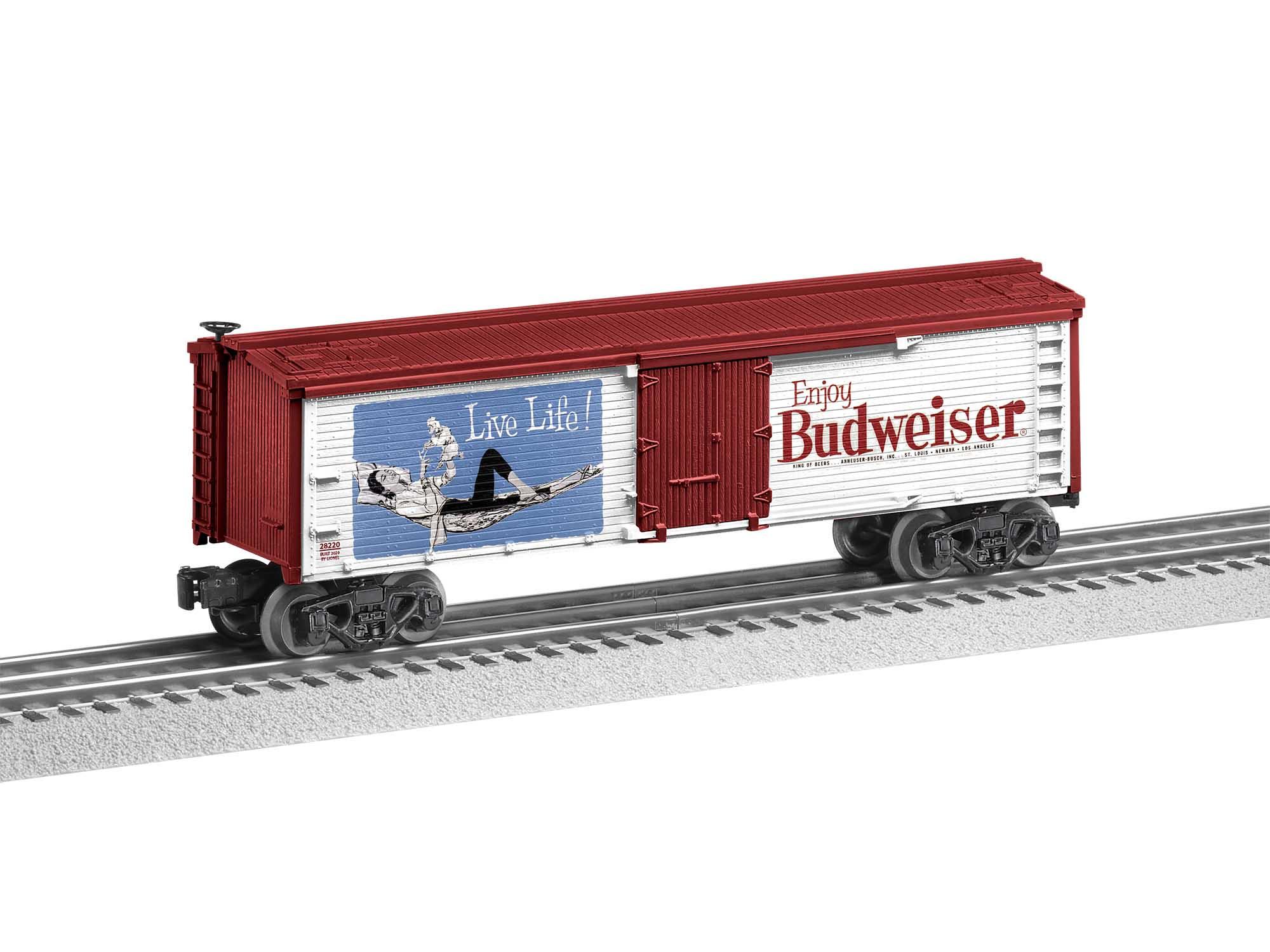 Lionel 2028230 O27 Reefer Enjoy Budweiser