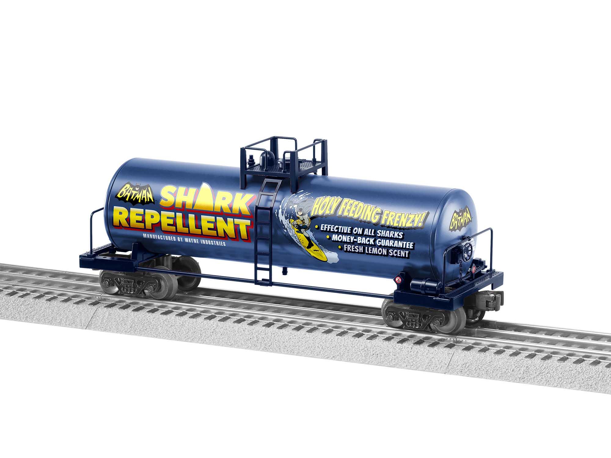 Lionel 2028280 O27 Tank Car Batman Shark Repellent