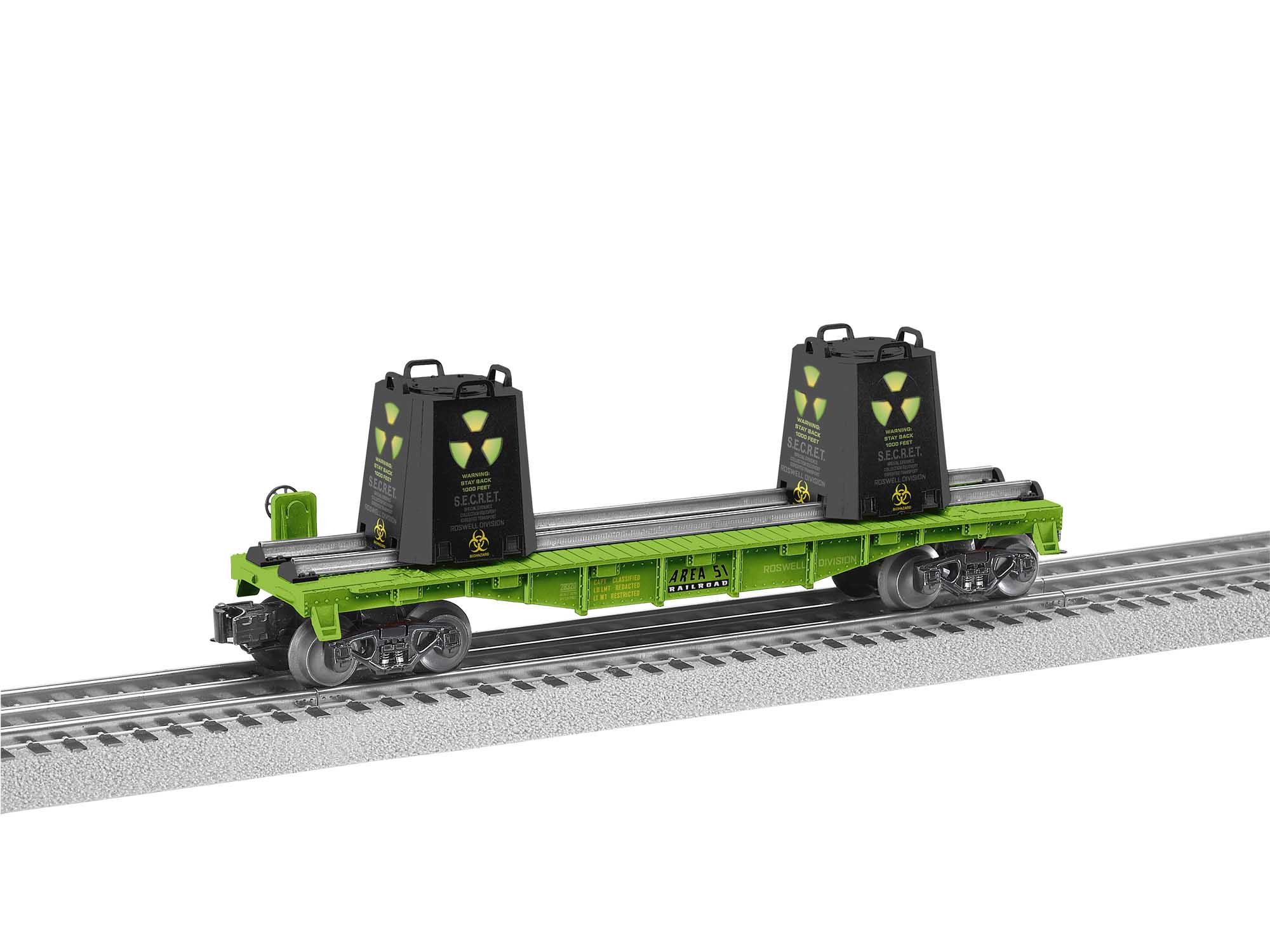 Lionel 2028320 O27 Flatcar Alien Radioactive
