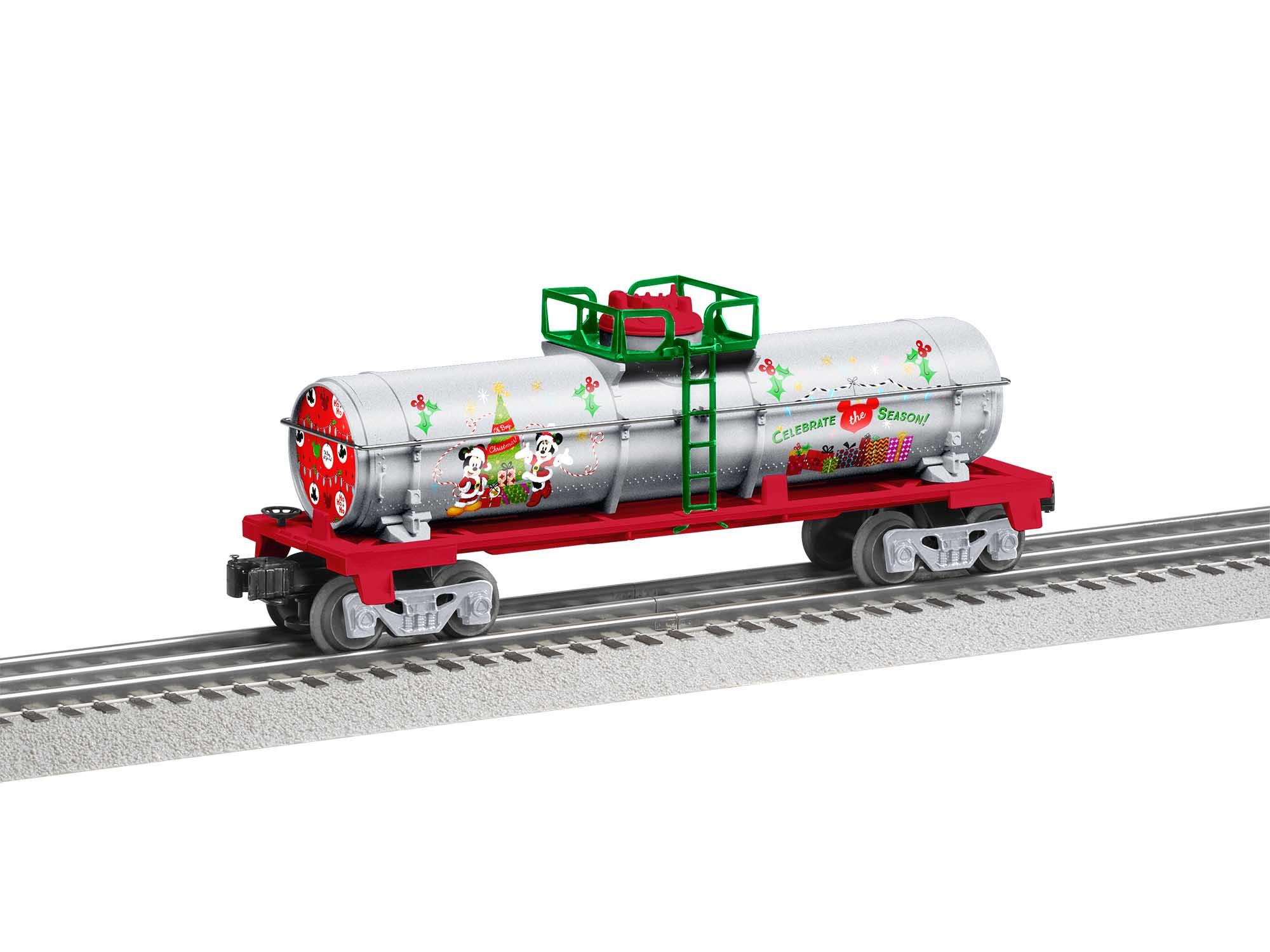 Lionel 2028360 O Tank Car Mickey & Friends Christmas