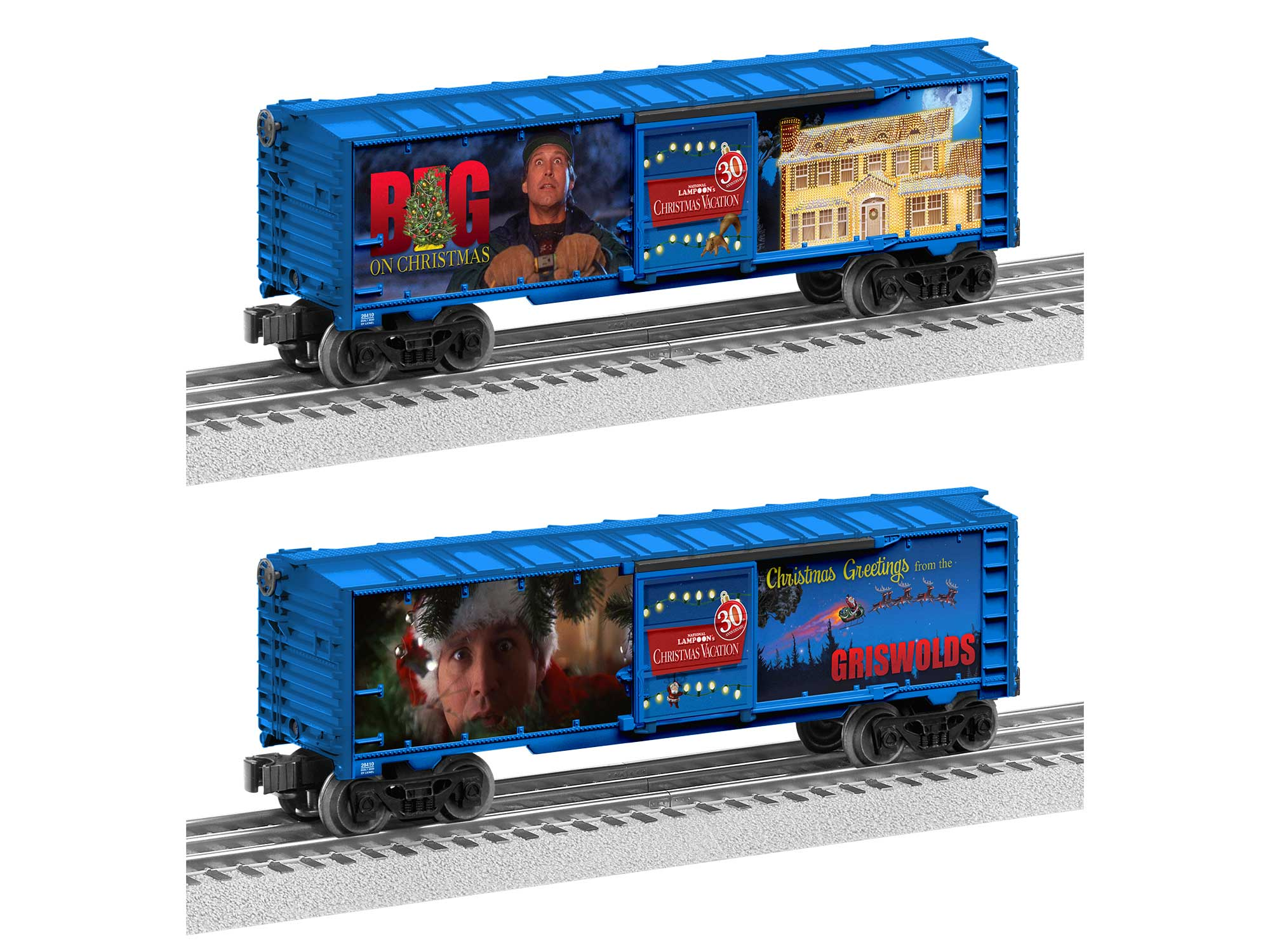 Lionel 2020 Christmas Boxcar Christmas Vacation 30th Anniversary Lighted Boxcar