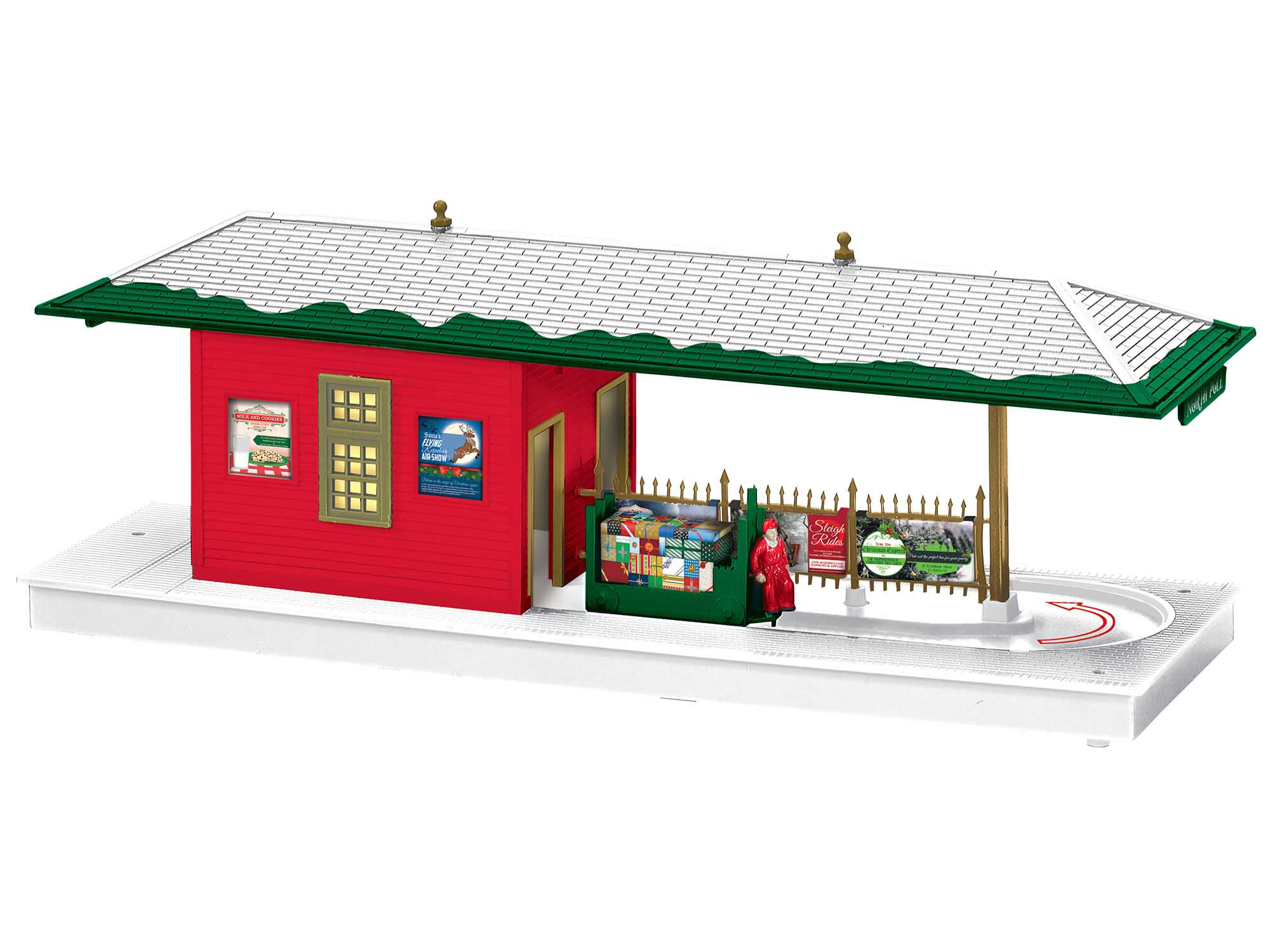 Lionel 2029180 Christmas Operating Freight Station