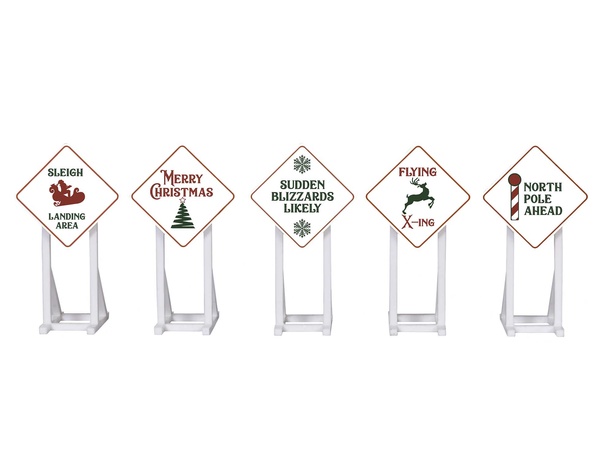 Lionel 2030260 Christmas Signs 5-Pack