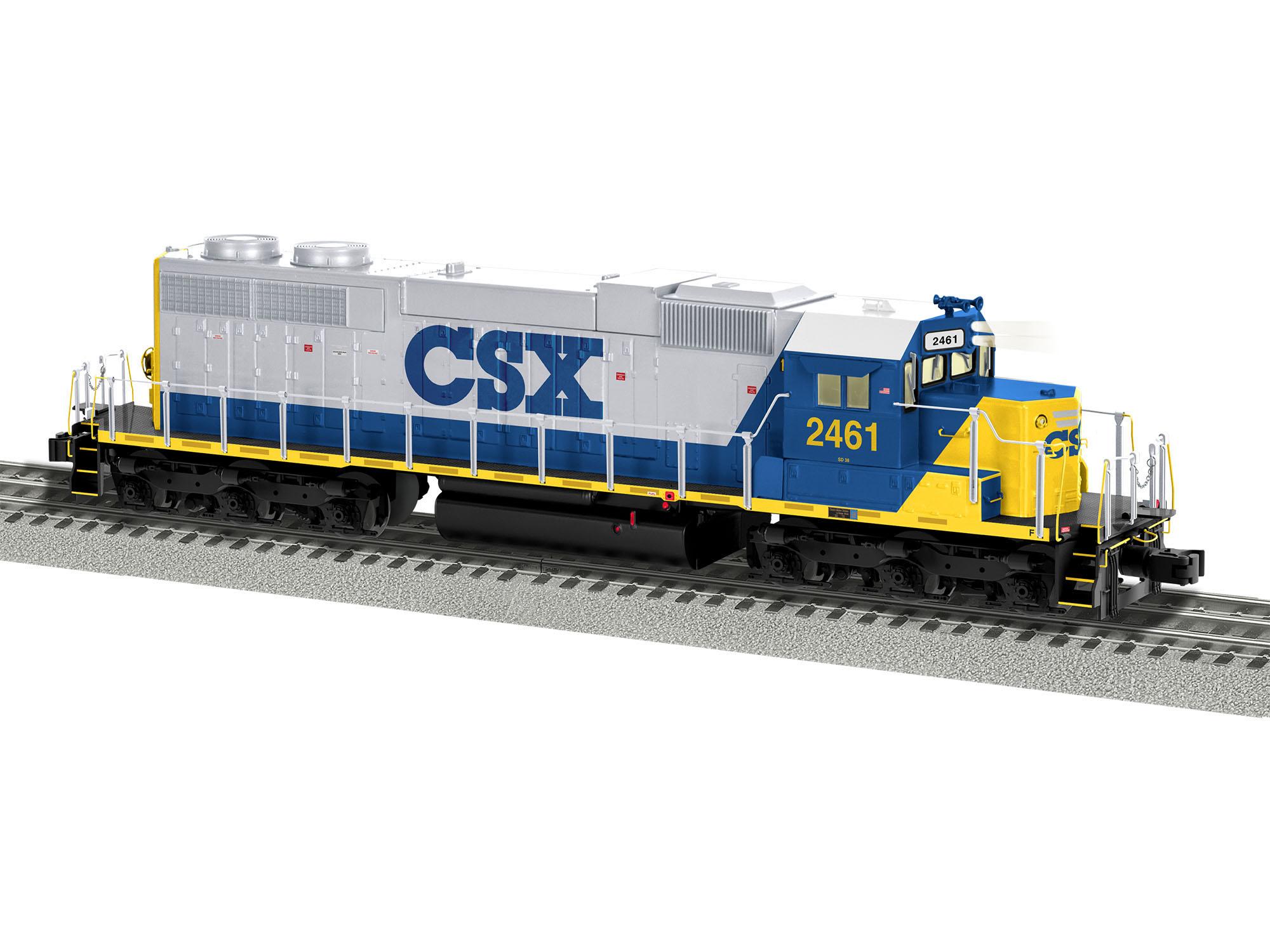Lionel 2033031 O EMD SD38 3-Rail Legacy Sound and Control CSX 2461 434-2033031